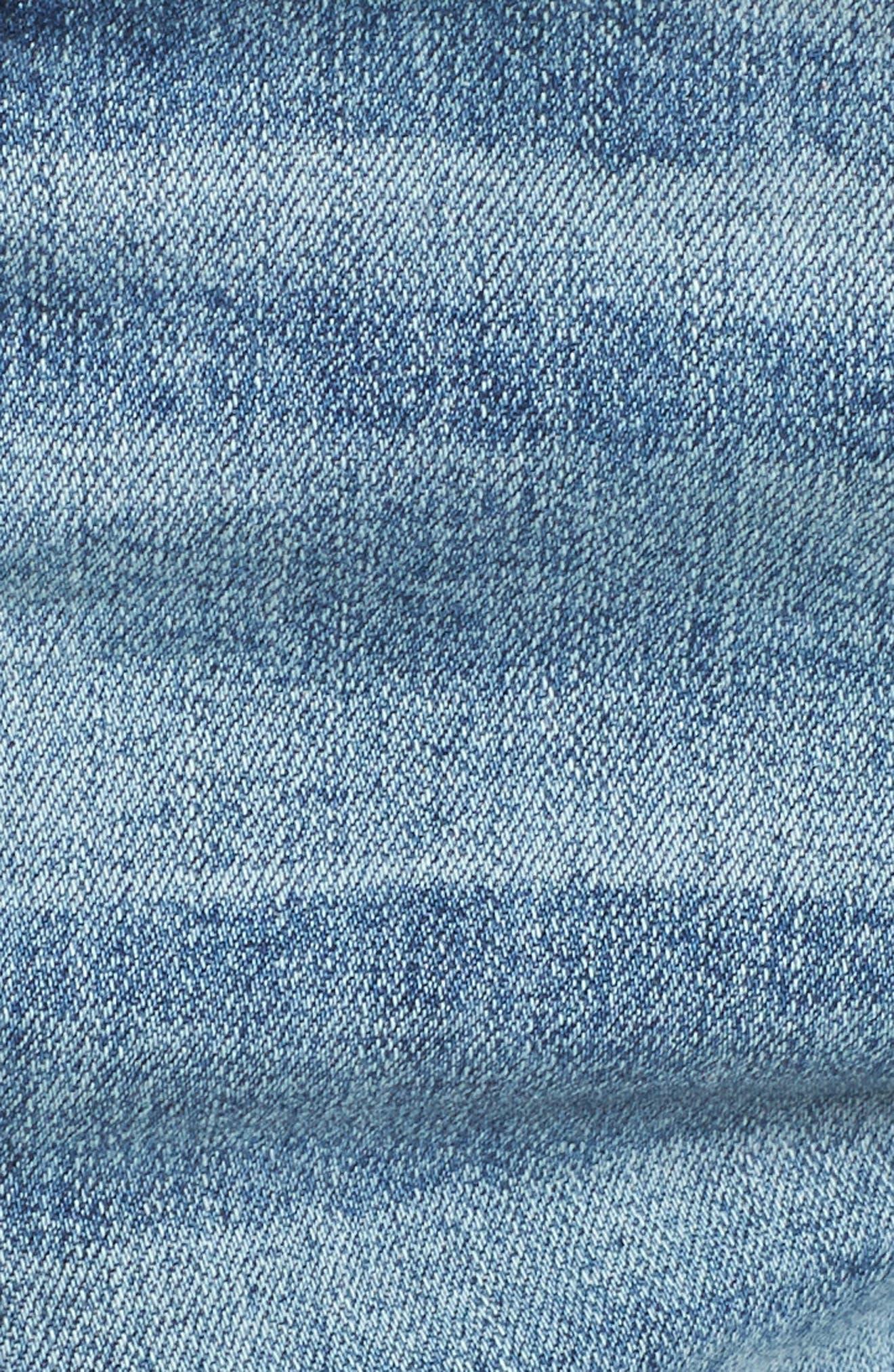 STS Blue Distressed High Waist Denim Shorts,                             Alternate thumbnail 6, color,                             RIVINDEL W/ LT BASE