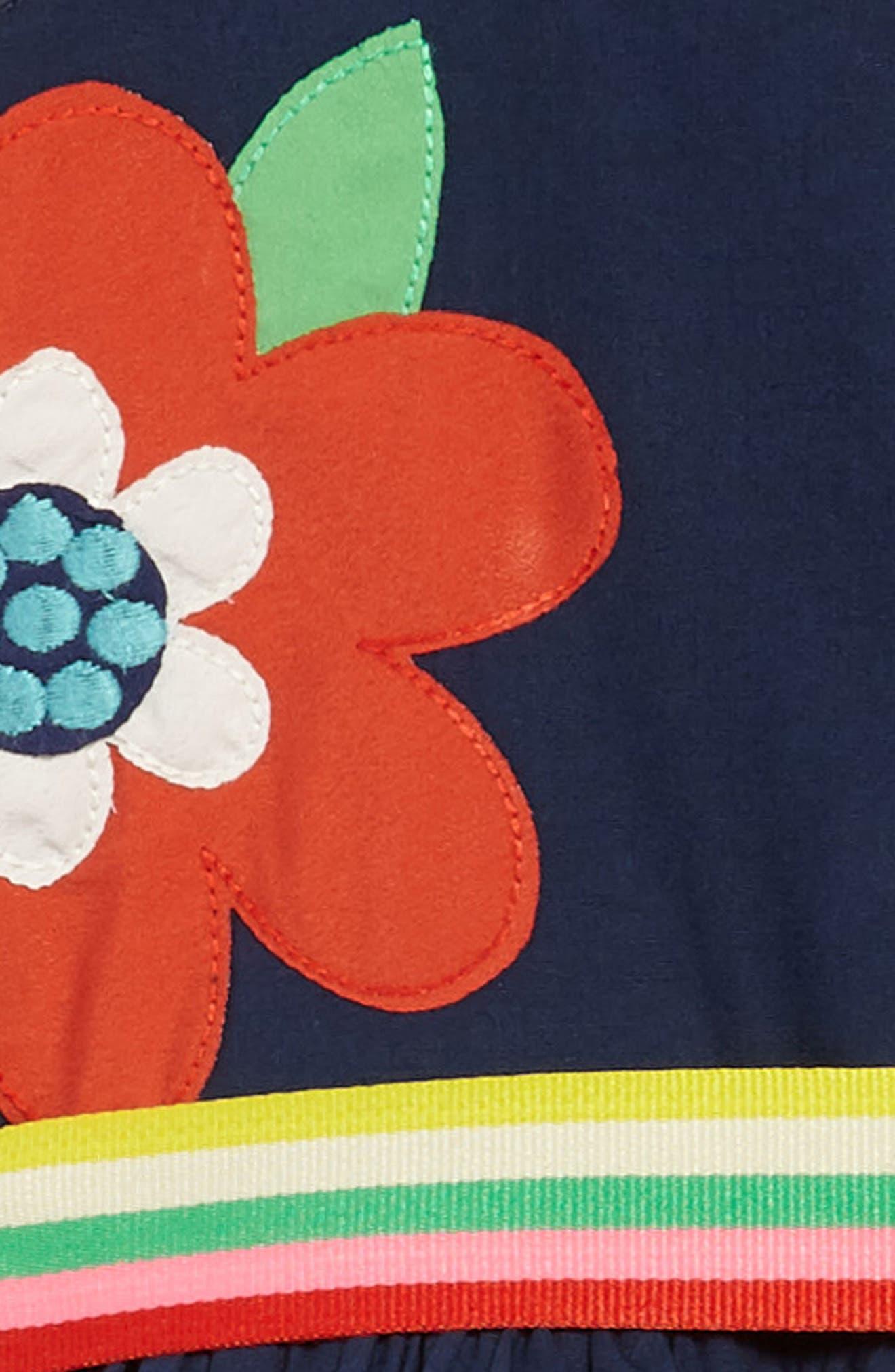 Bright Appliqué Dress,                             Alternate thumbnail 3, color,                             402