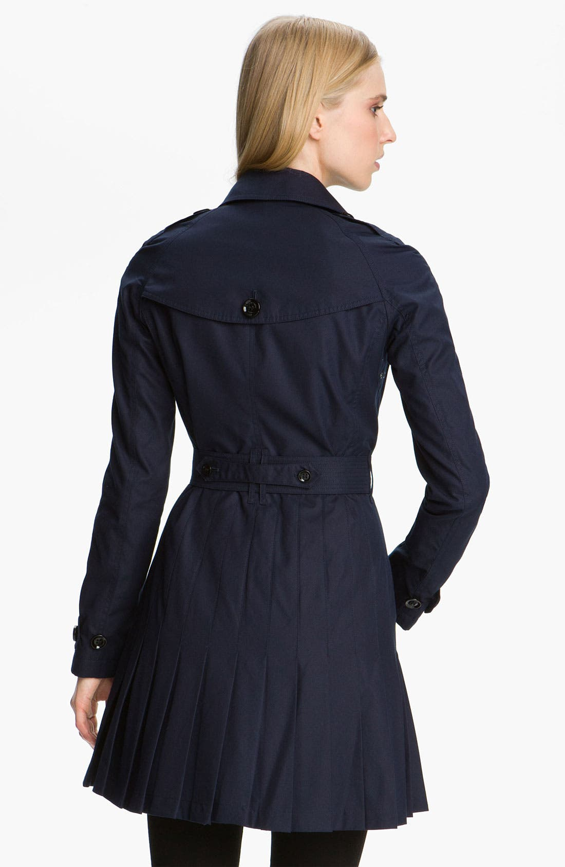 Double Breasted Trench Coat,                             Alternate thumbnail 3, color,                             400
