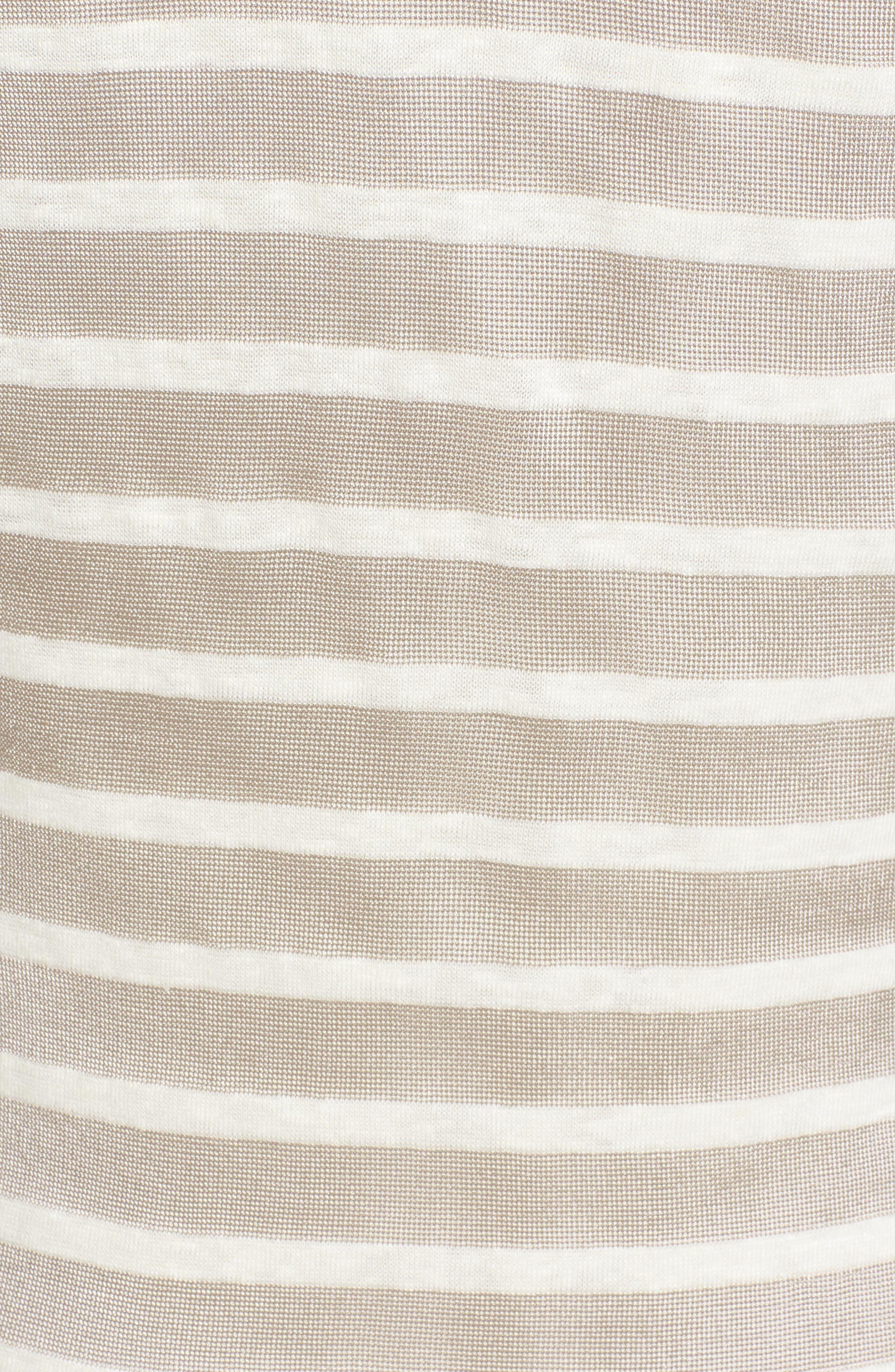 Stripe Linen Tank Dress,                             Alternate thumbnail 5, color,                             260