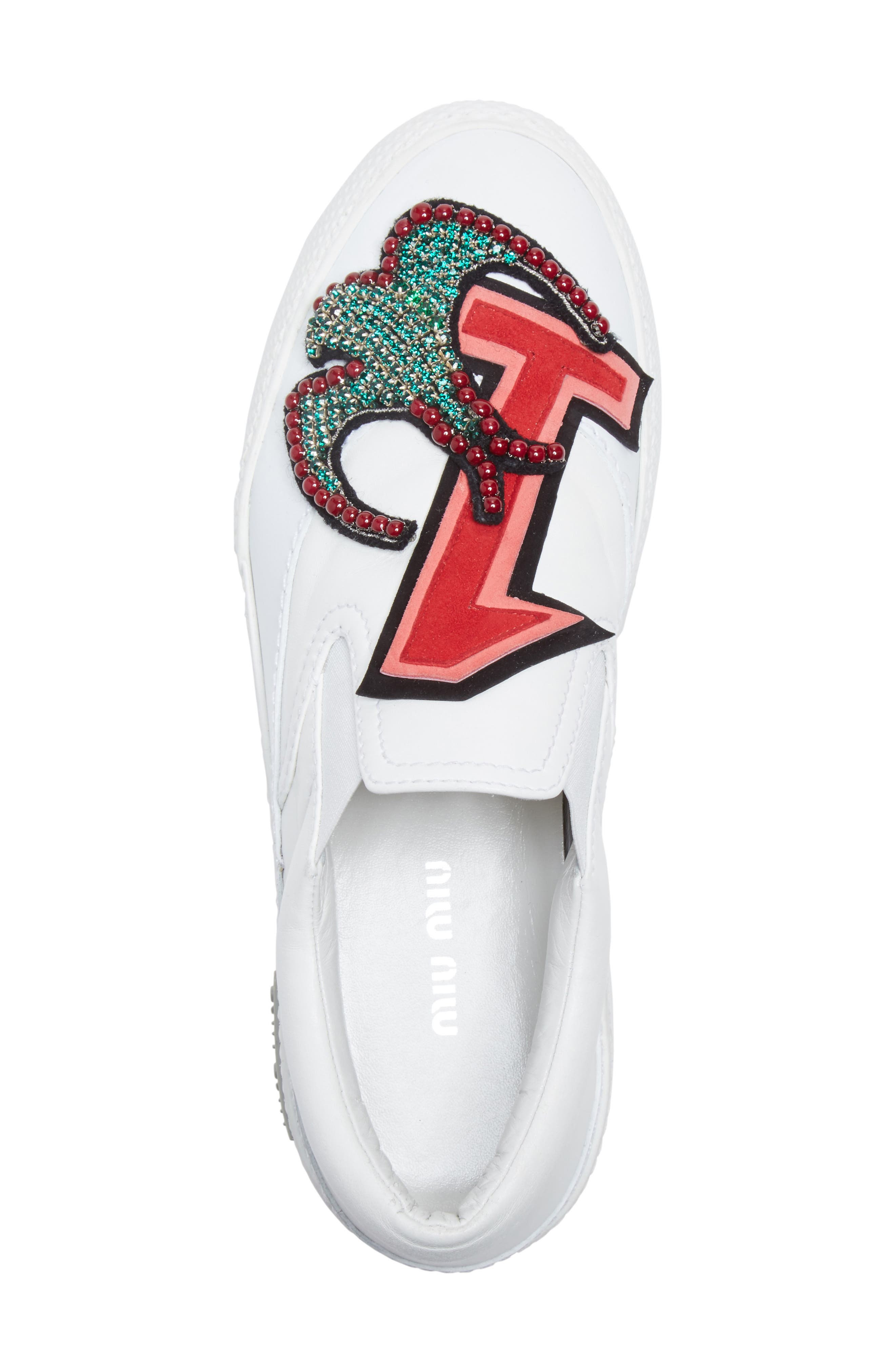 Embellished Slip-On Sneaker,                             Alternate thumbnail 5, color,