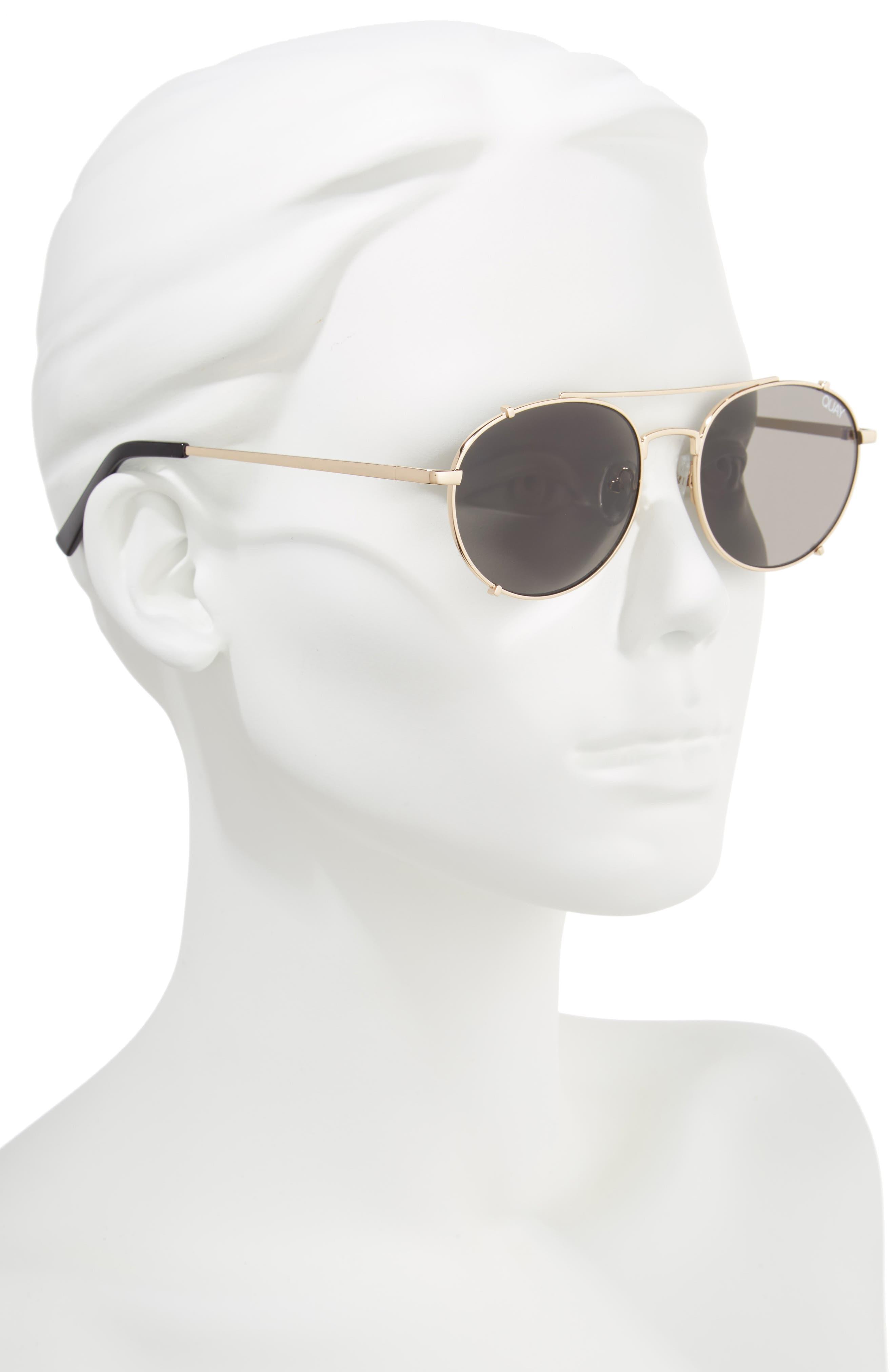 Little J 55mm Aviator Sunglasses,                             Alternate thumbnail 2, color,                             GOLD/ SMOKE