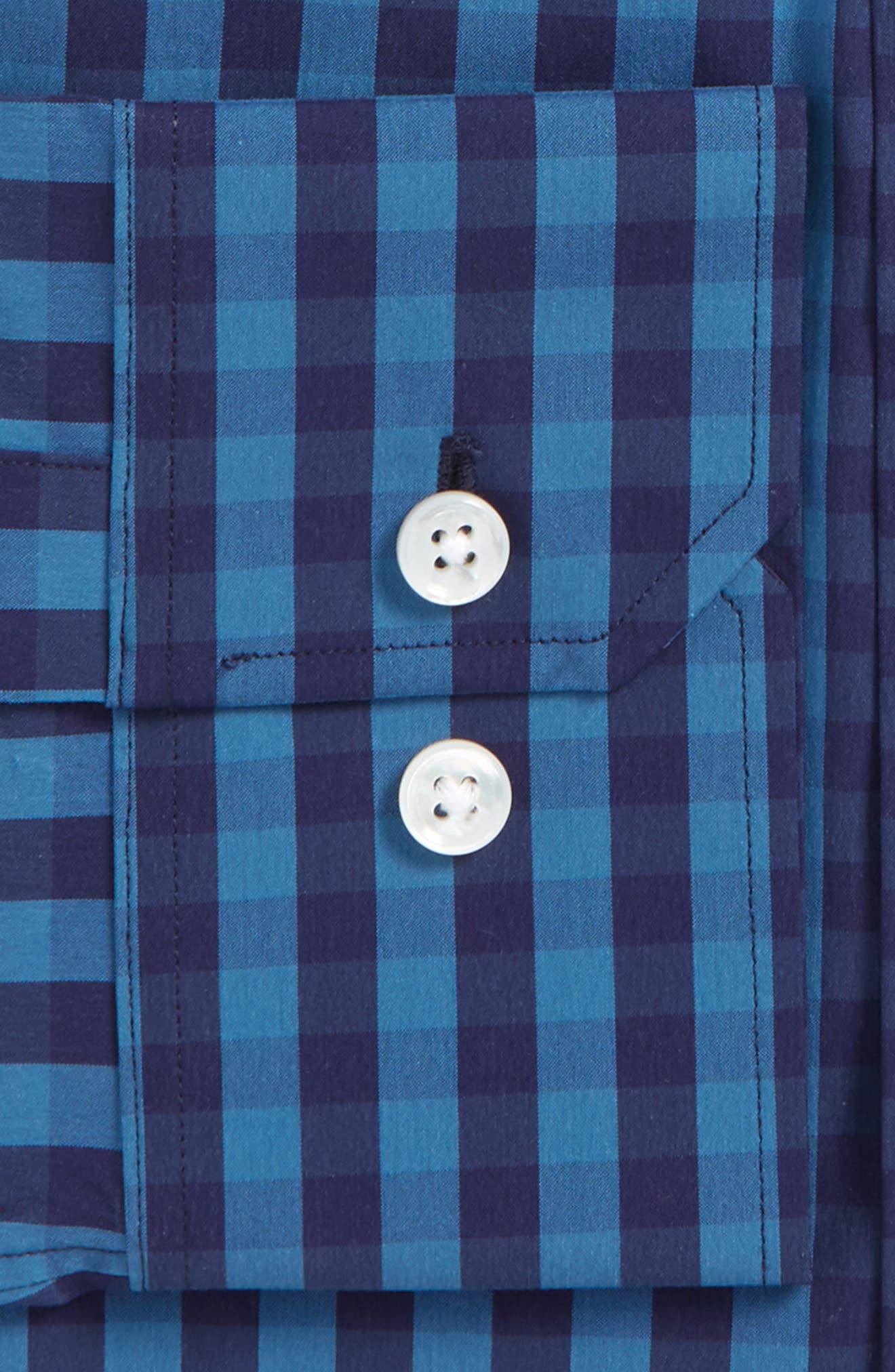 Slim Fit Stretch Check Dress Shirt,                             Alternate thumbnail 2, color,                             400