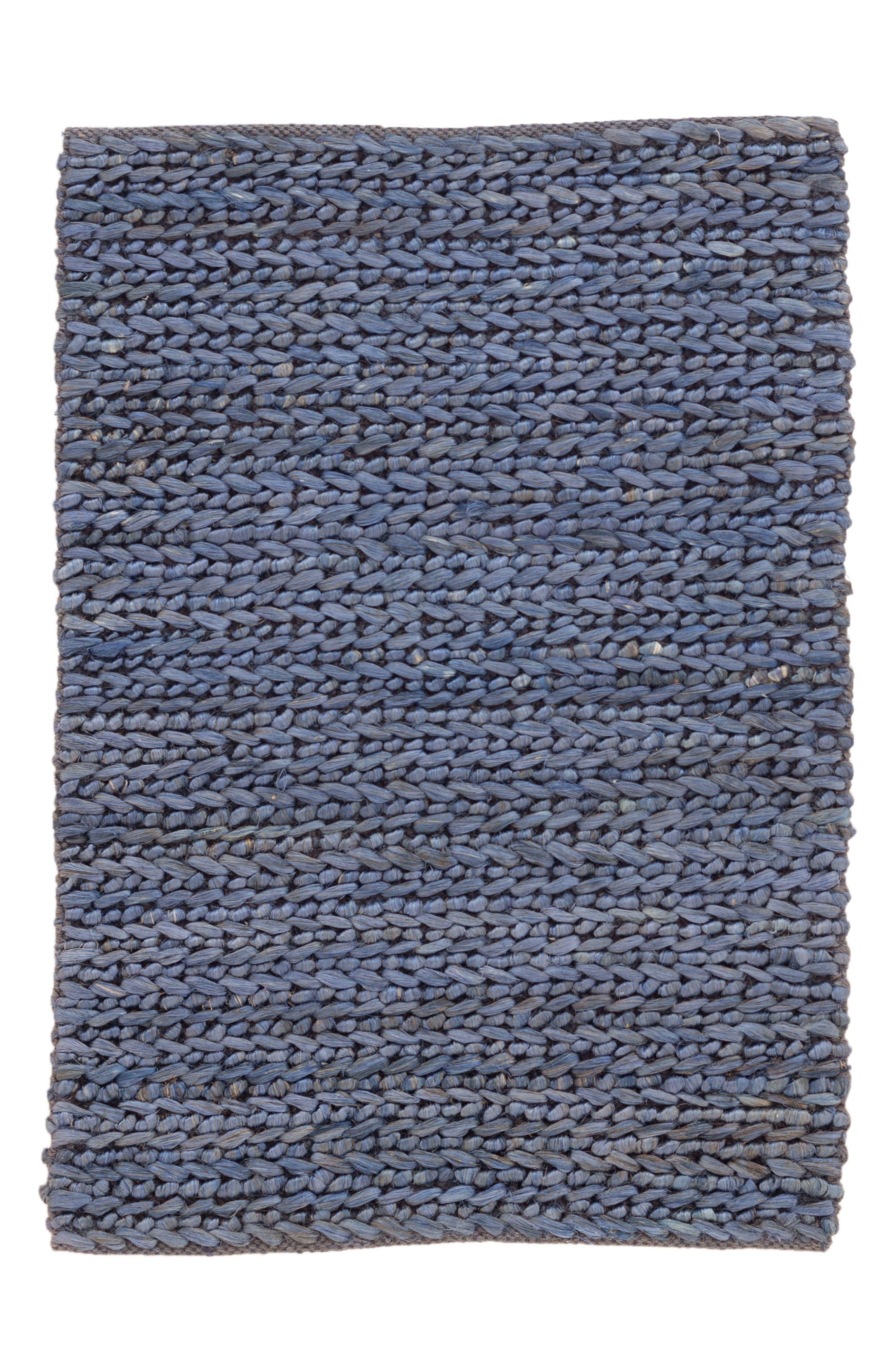 Woven Jute Rug,                             Main thumbnail 1, color,                             BLUE