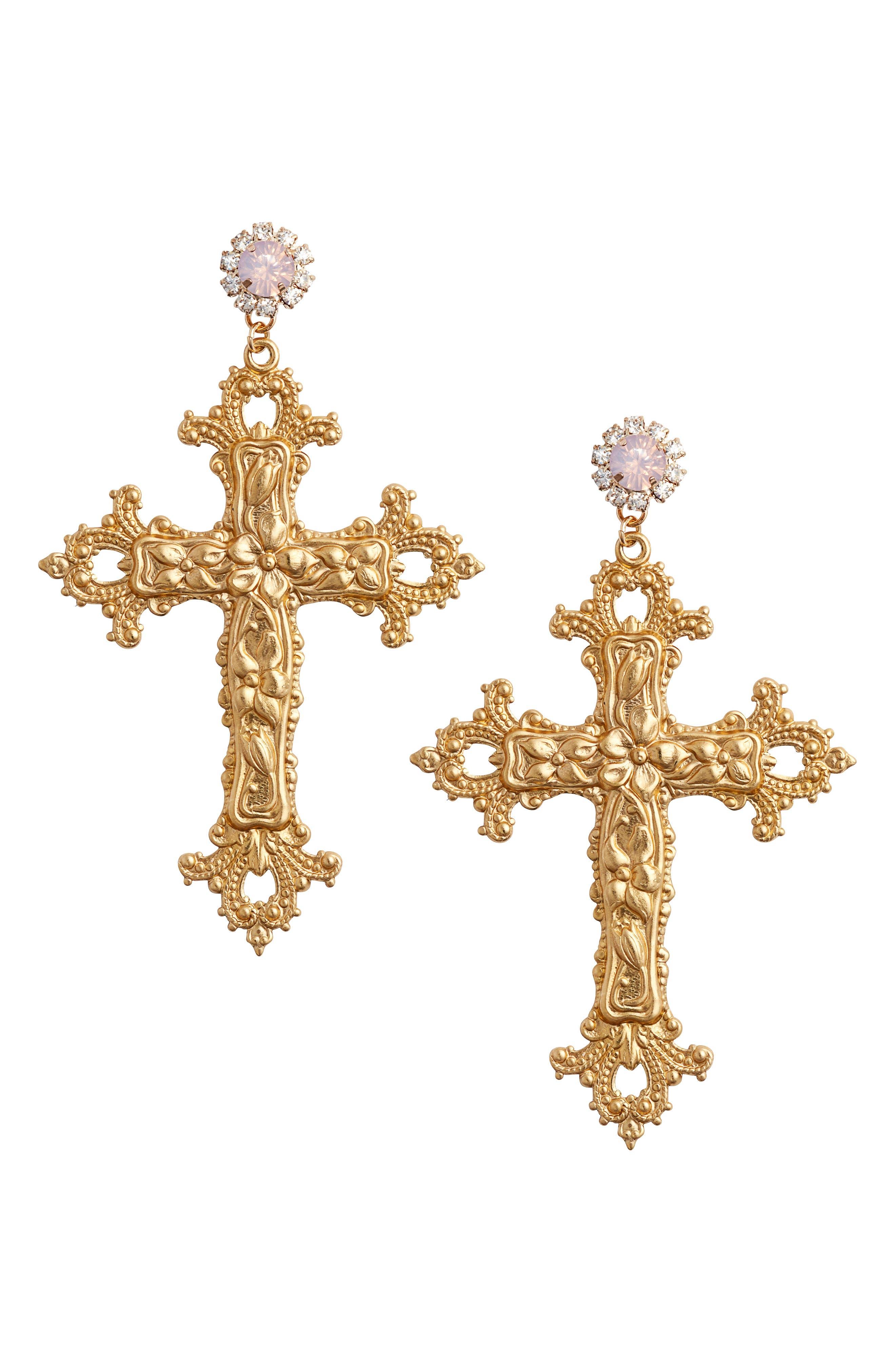Vatican City Drop Earrings,                             Main thumbnail 1, color,                             710