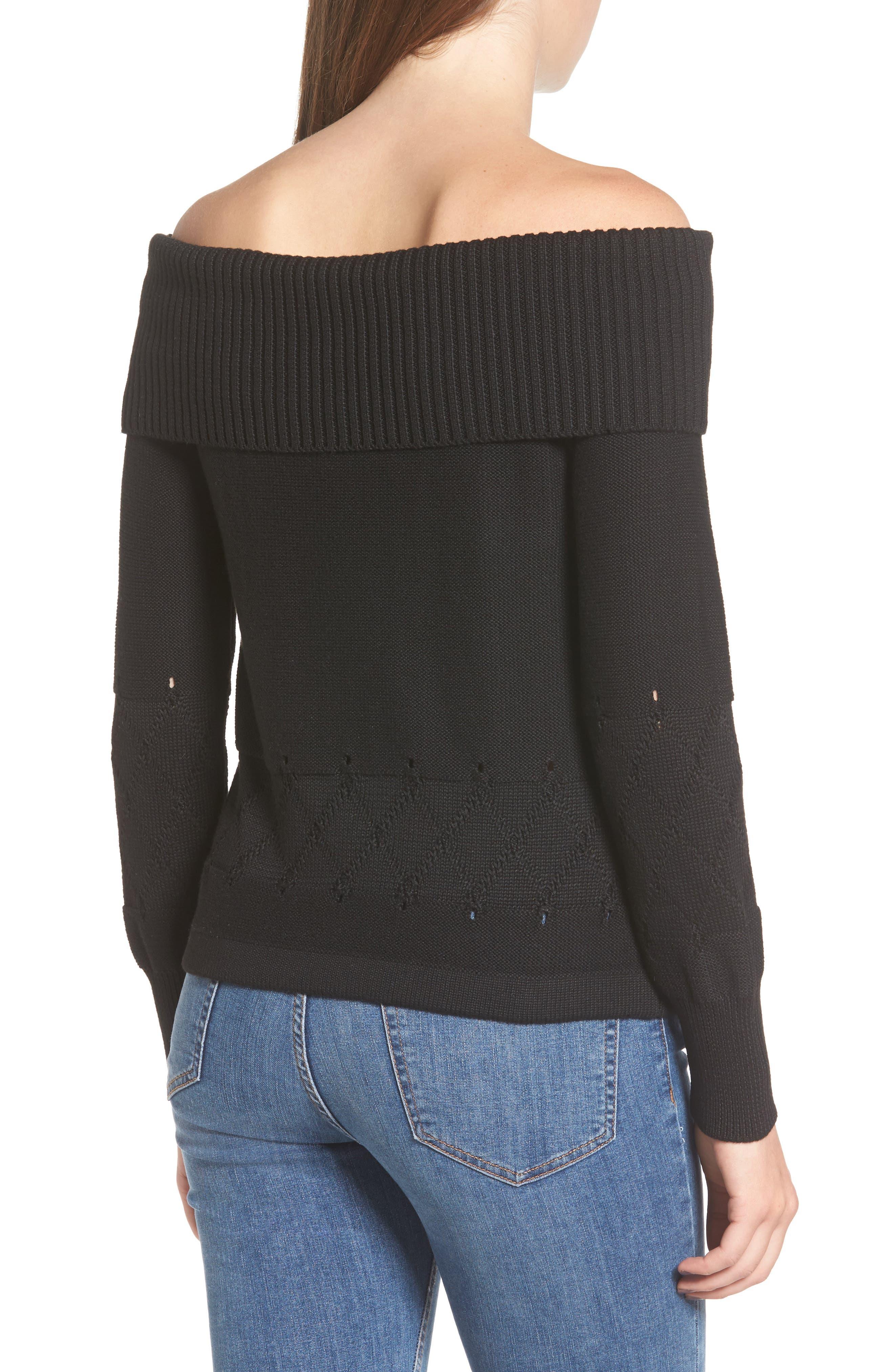 Terri Off the Shoulder Sweater,                             Alternate thumbnail 2, color,                             001