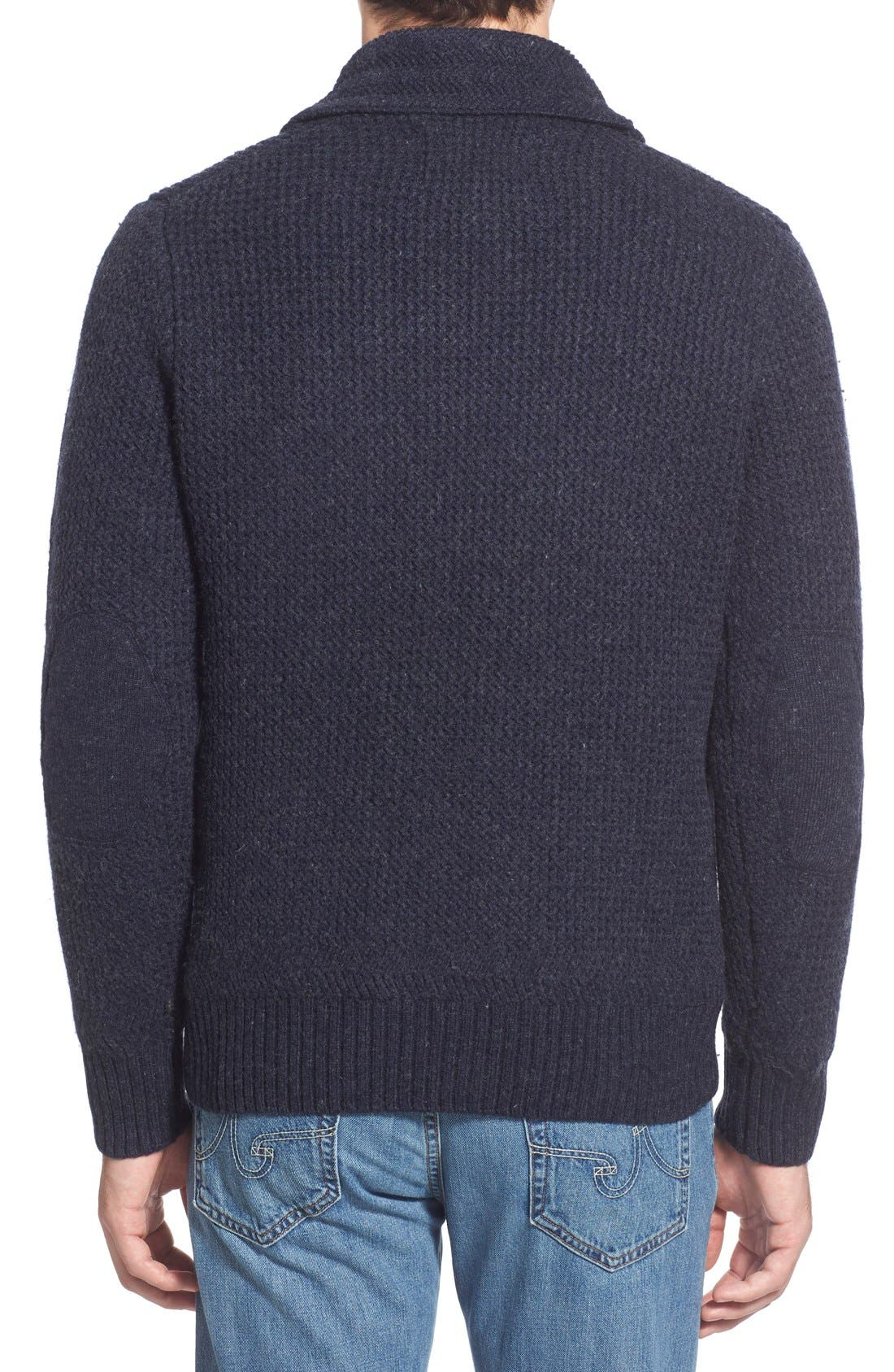 Regular Fit Shawl Collar Sweater,                             Alternate thumbnail 4, color,