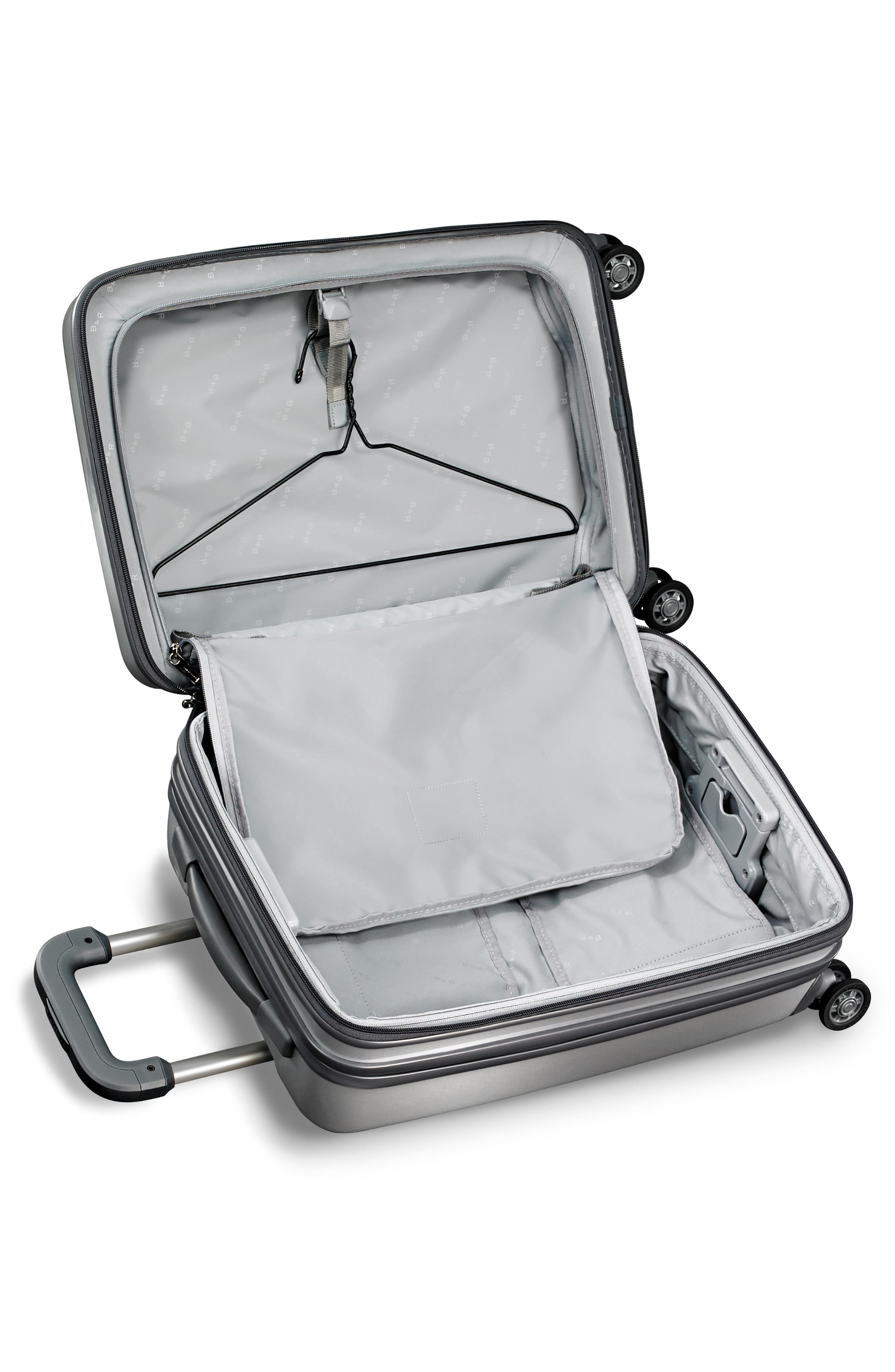 Sympatico Special Edition Expandable 21-Inch Spinner International Carry-On,                             Alternate thumbnail 3, color,                             SILVER