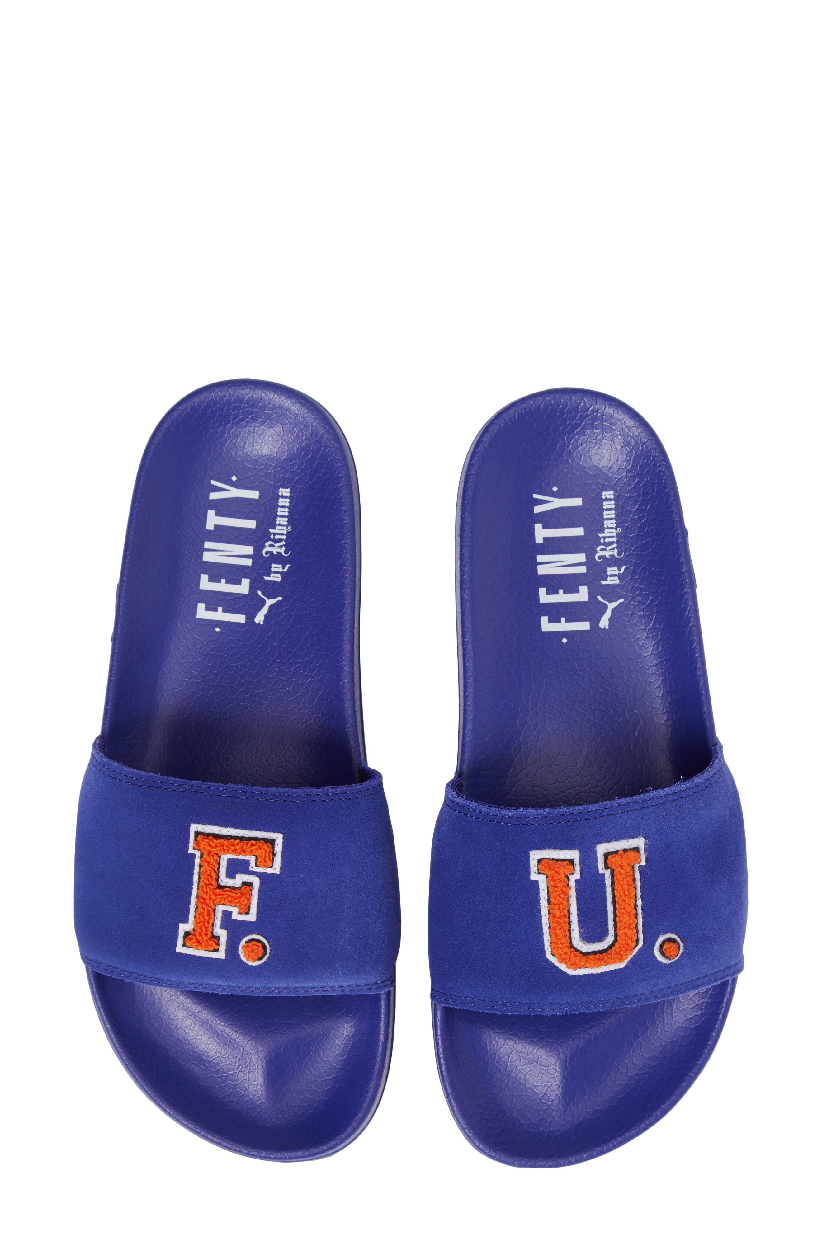 FENTY PUMA by Rihanna Lead Cat Slide Sandals,                             Alternate thumbnail 18, color,