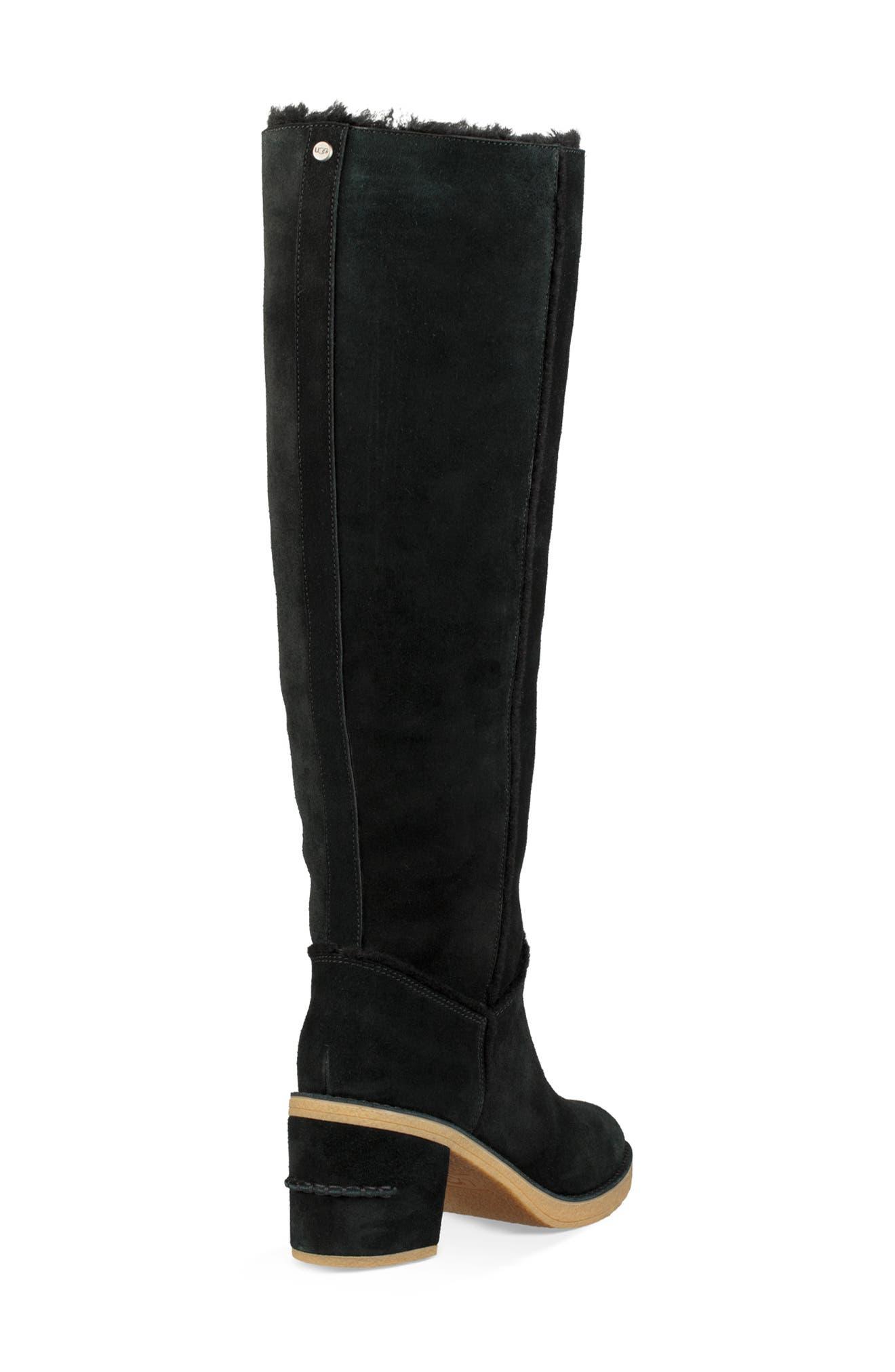 Kasen II Knee High Boot,                             Alternate thumbnail 2, color,                             BLACK SUEDE