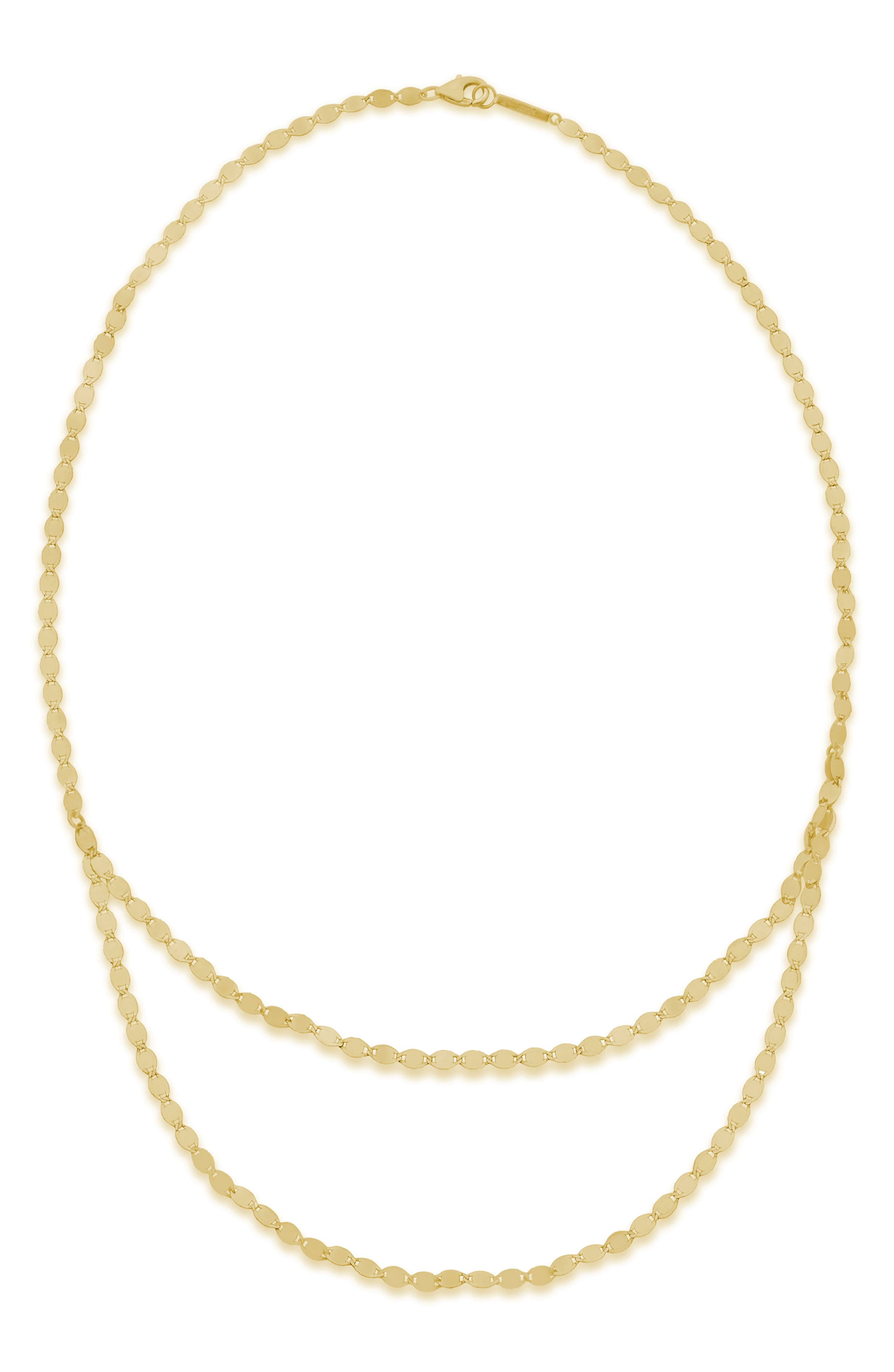 Chain Double Layer Necklace,                             Main thumbnail 1, color,                             YELLOW GOLD