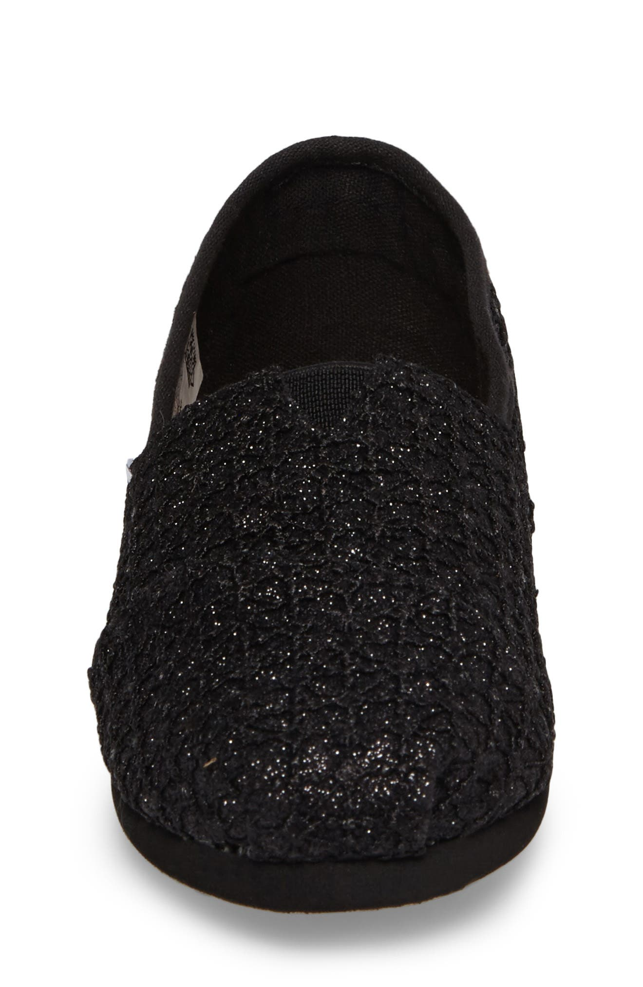 Lace Glimmer Slip-On,                             Alternate thumbnail 4, color,                             001