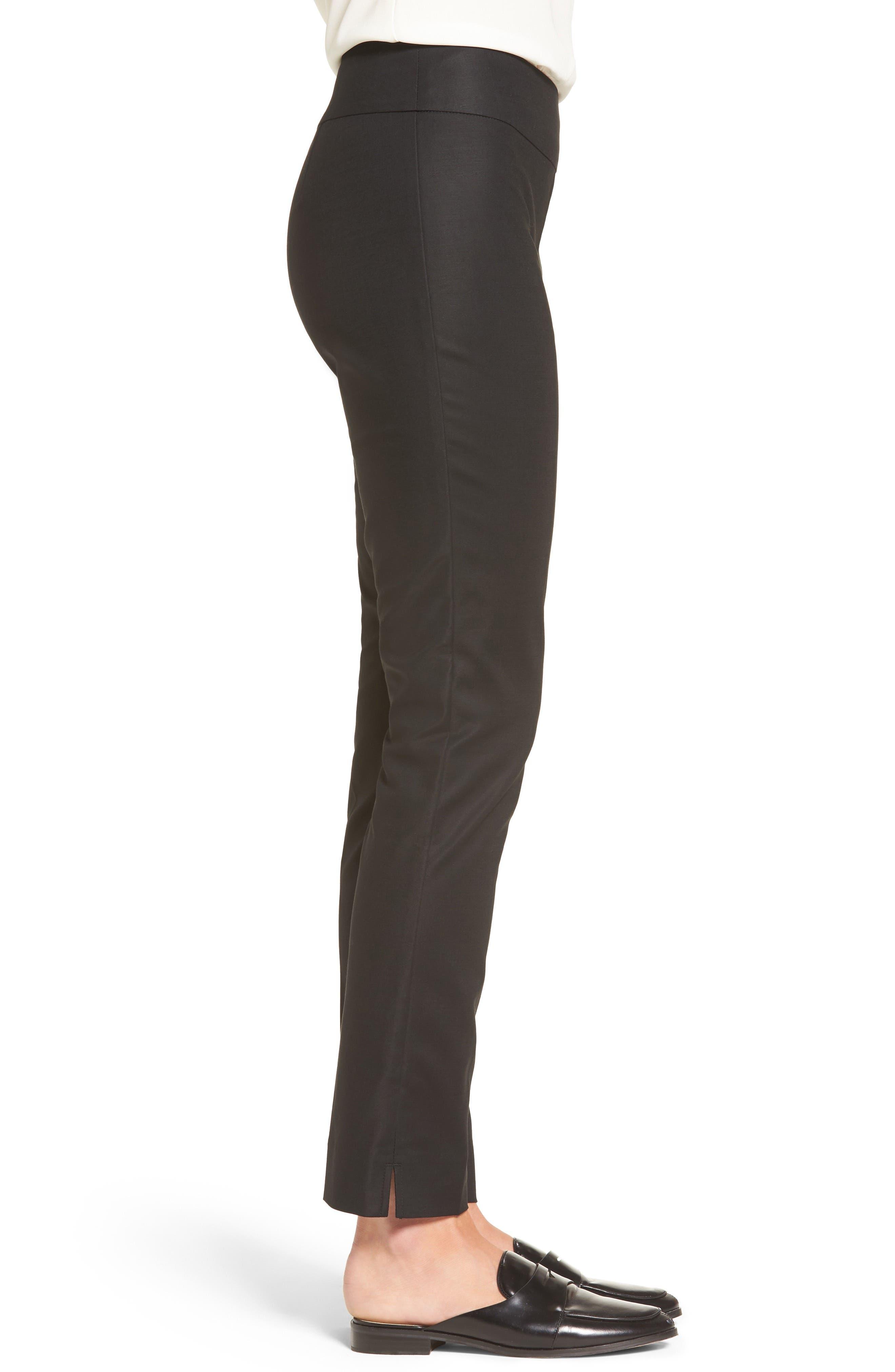 The Perfect Slim Ankle Pants,                             Alternate thumbnail 3, color,                             BLACK ONYX