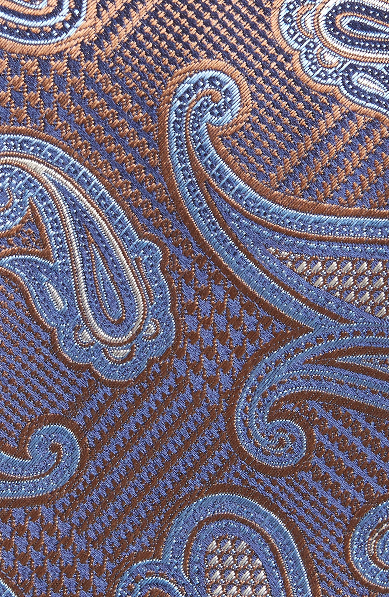 Paisley Silk X-Long Tie,                             Alternate thumbnail 2, color,                             BROWN