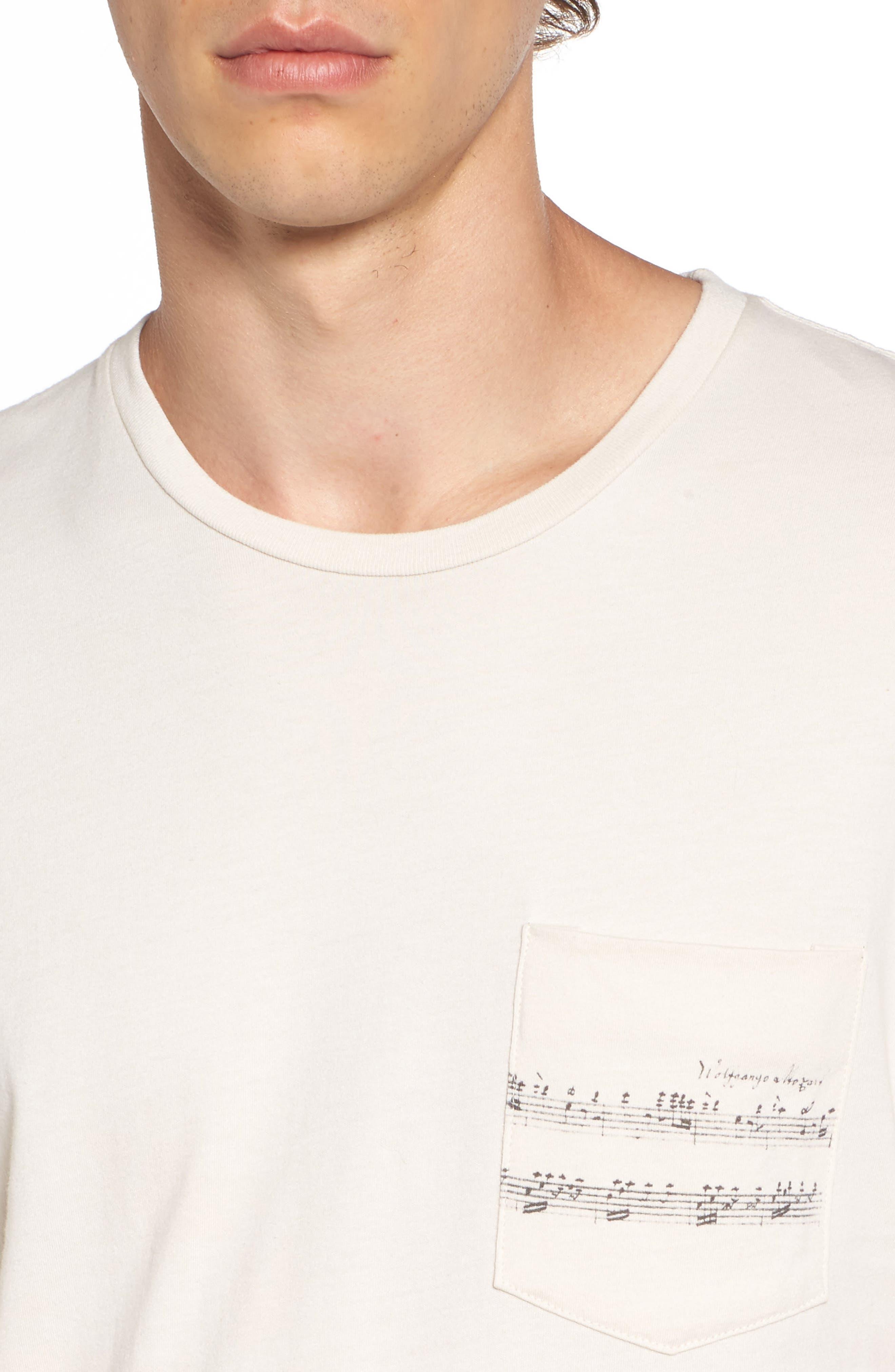 Mozart Pocket T-Shirt,                             Alternate thumbnail 4, color,                             101