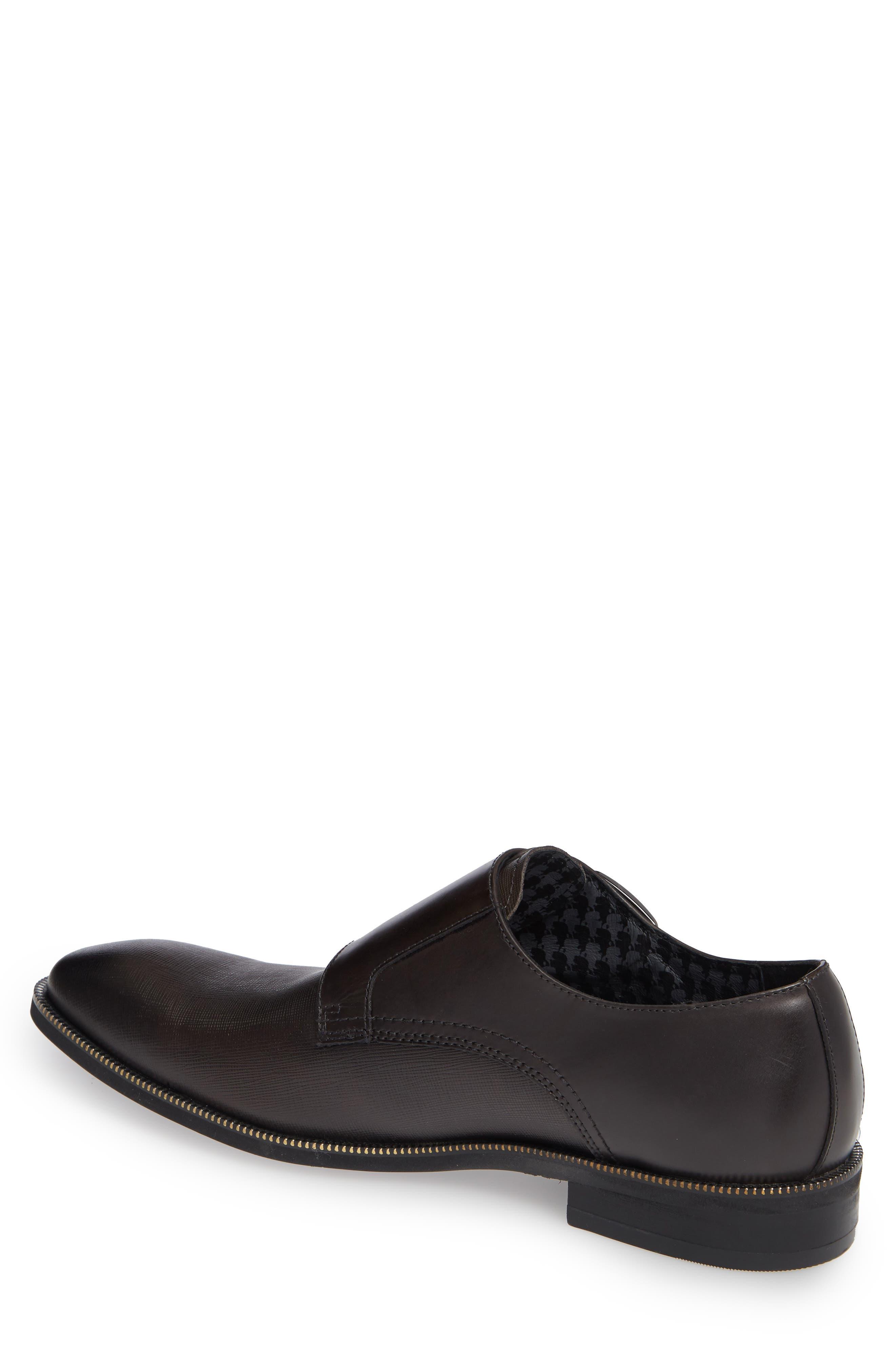 Double Strap Monk Shoe,                             Alternate thumbnail 2, color,                             DARK GREY