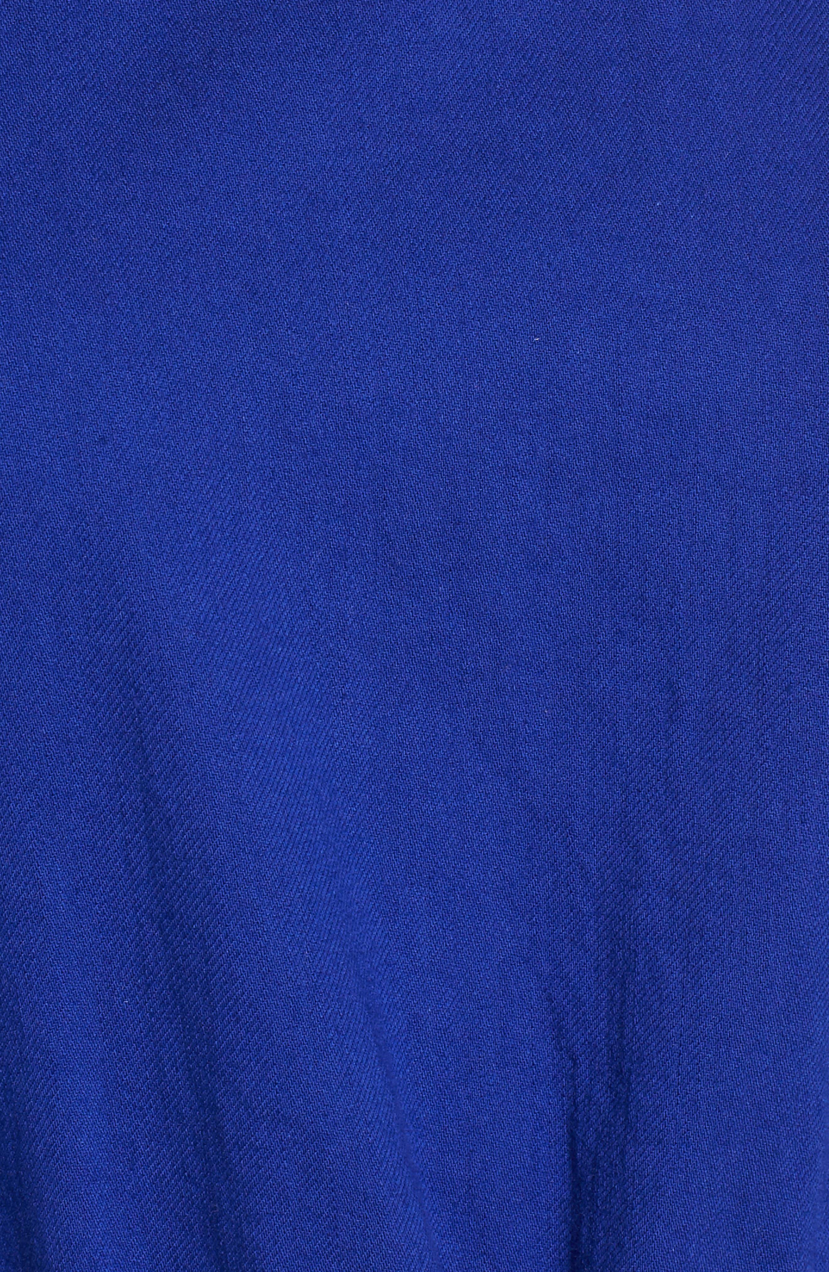Drawstring Organic Cotton Midi Dress,                             Alternate thumbnail 21, color,