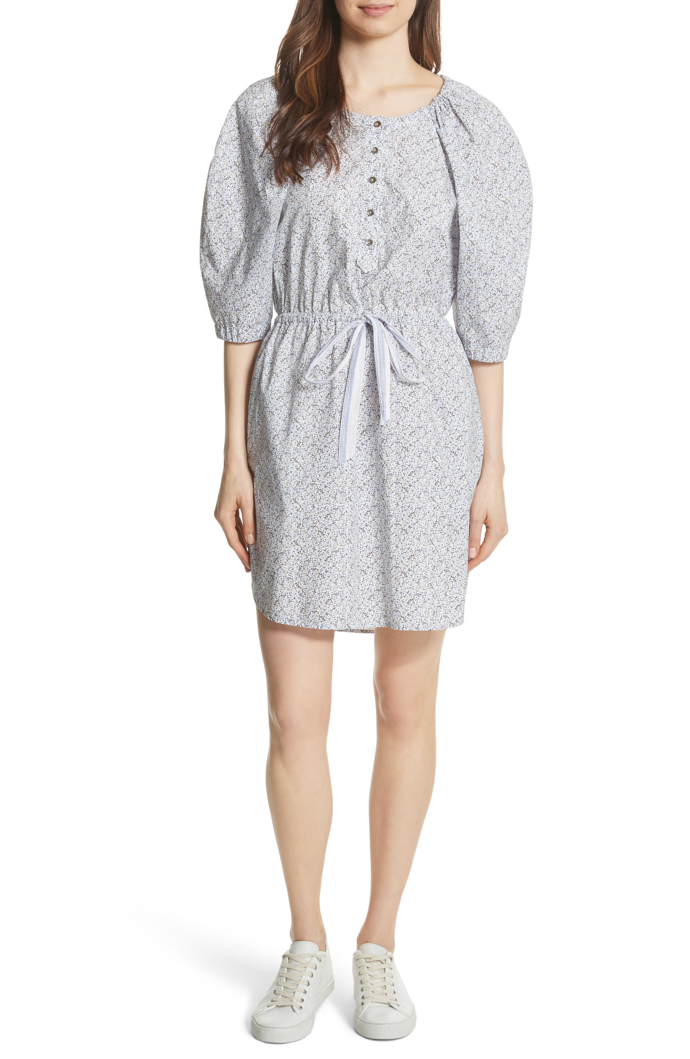 Meadow Floral Shirtdress,                             Main thumbnail 1, color,                             151
