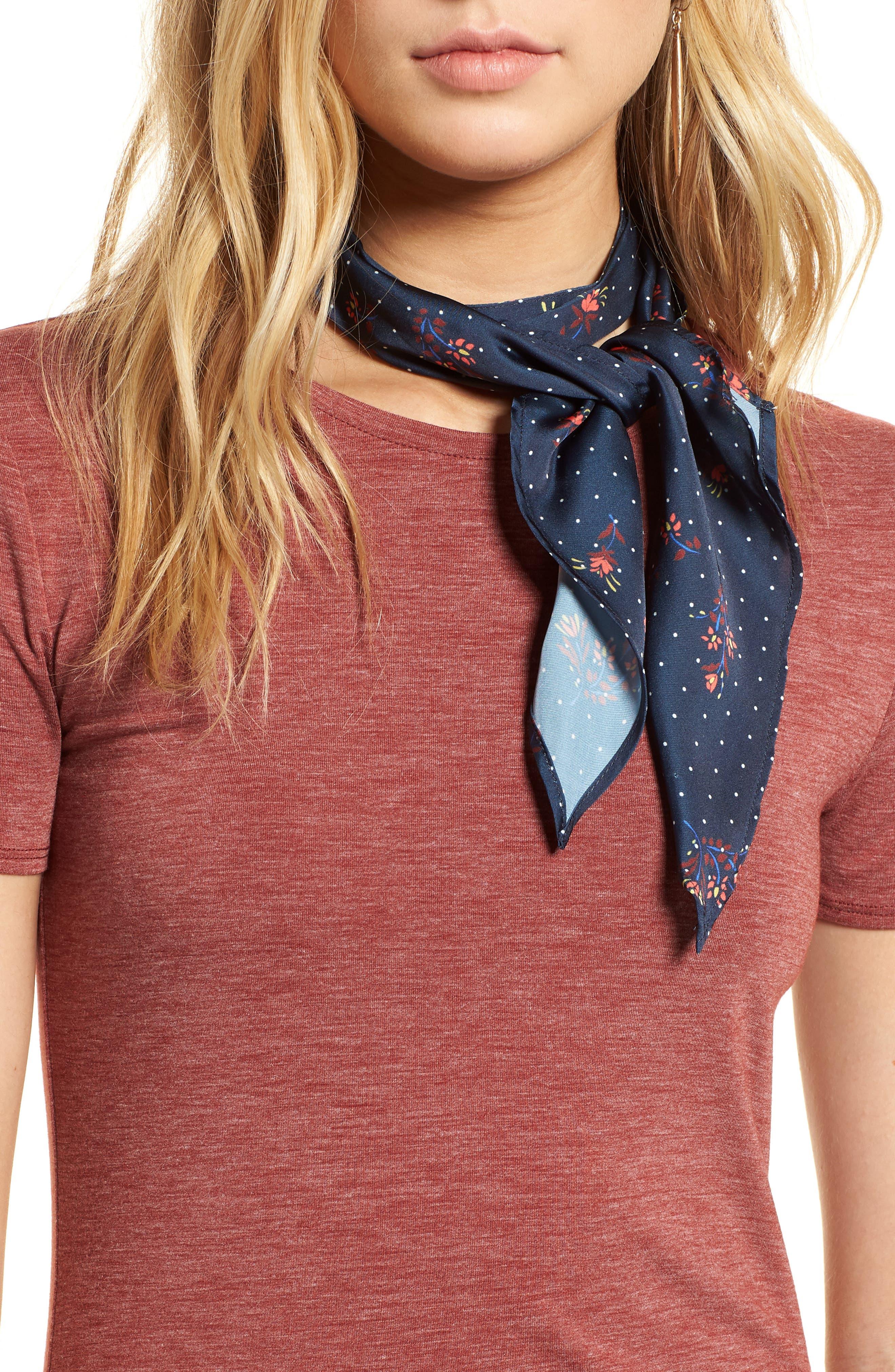 Print Short Tie Scarf,                         Main,                         color, 410