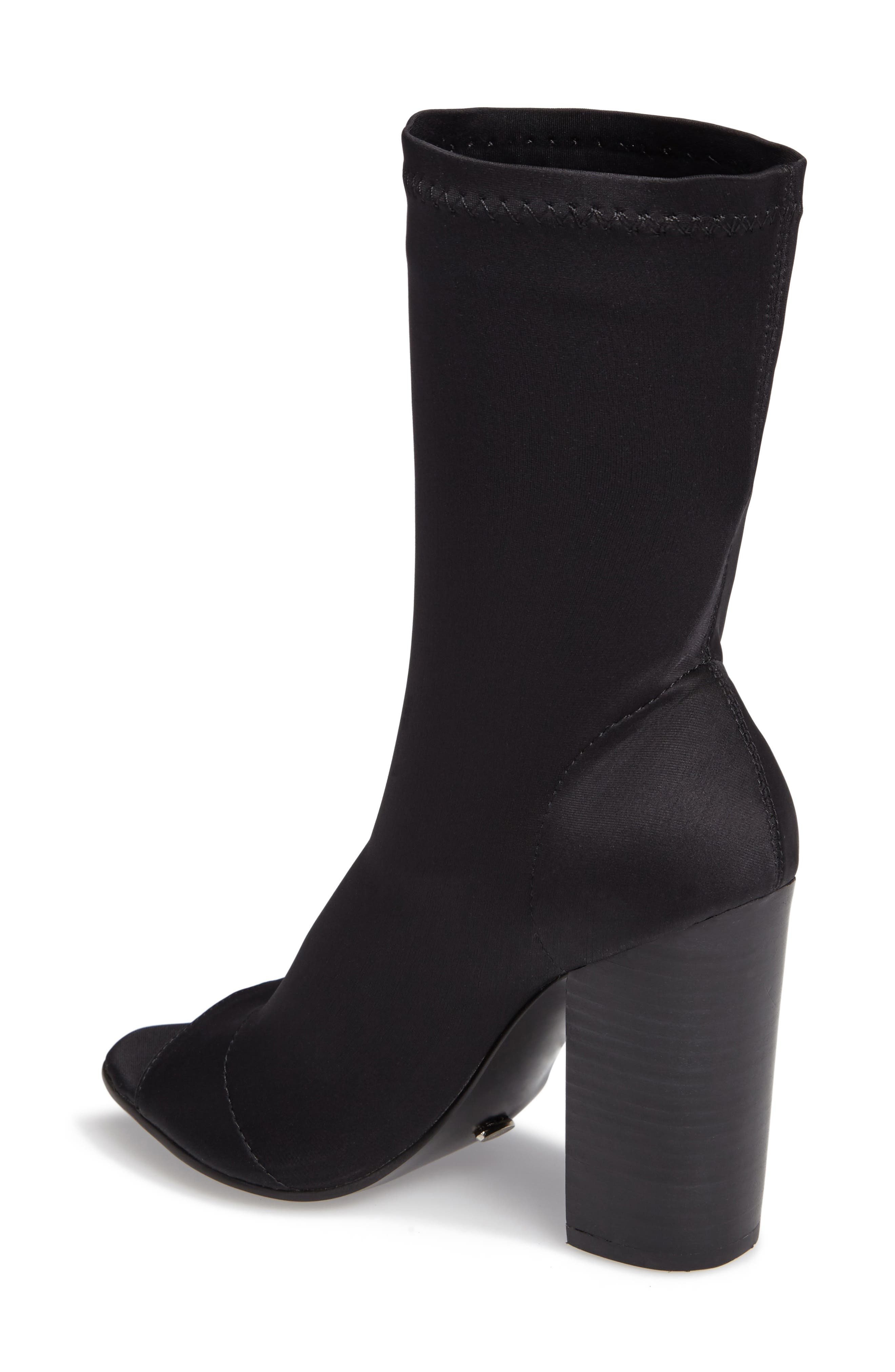 Malo Open Toe Stretch Bootie,                             Alternate thumbnail 2, color,                             001