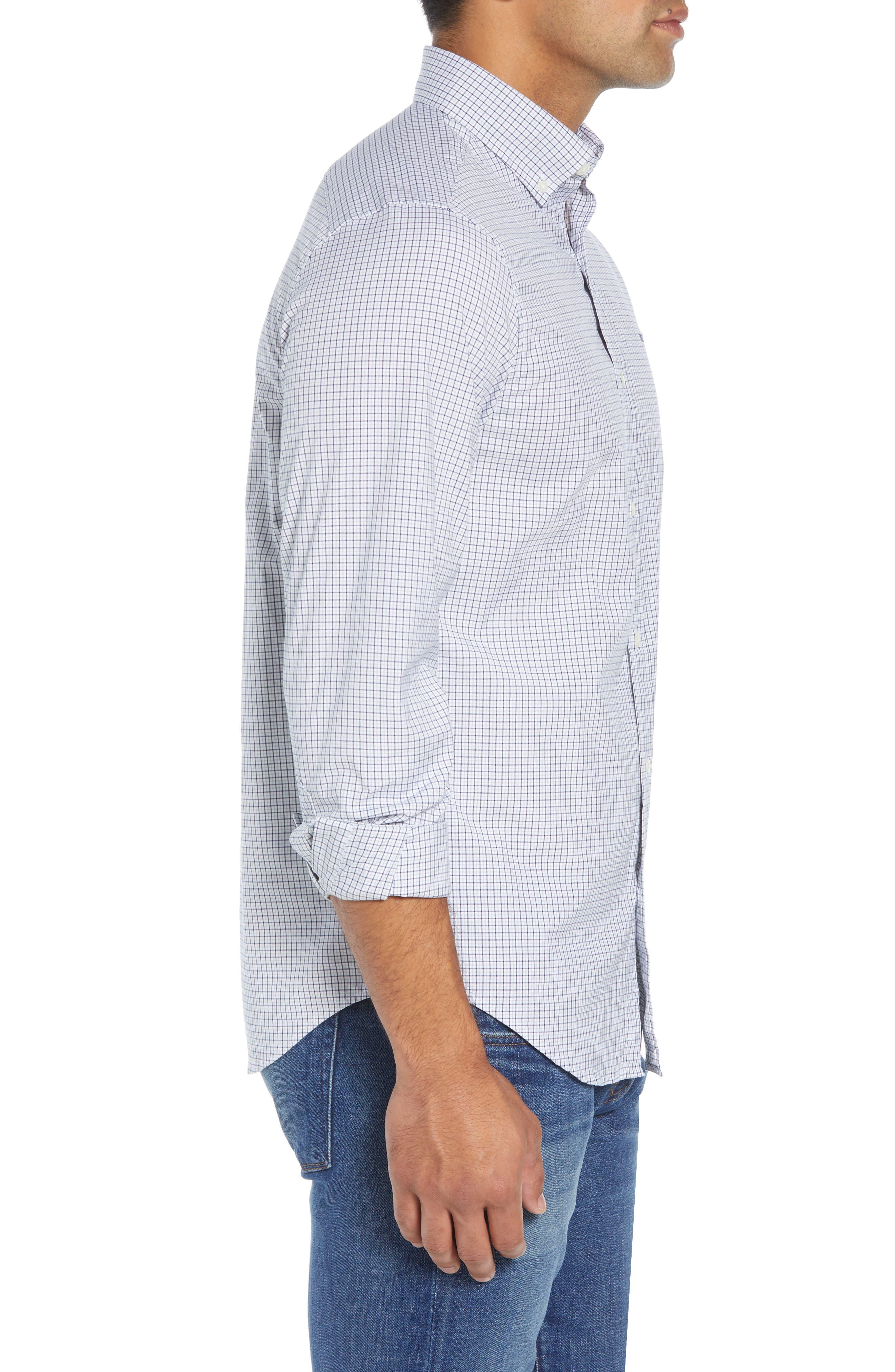 Beechcroft Regular Fit Check Sport Shirt,                             Alternate thumbnail 4, color,                             034