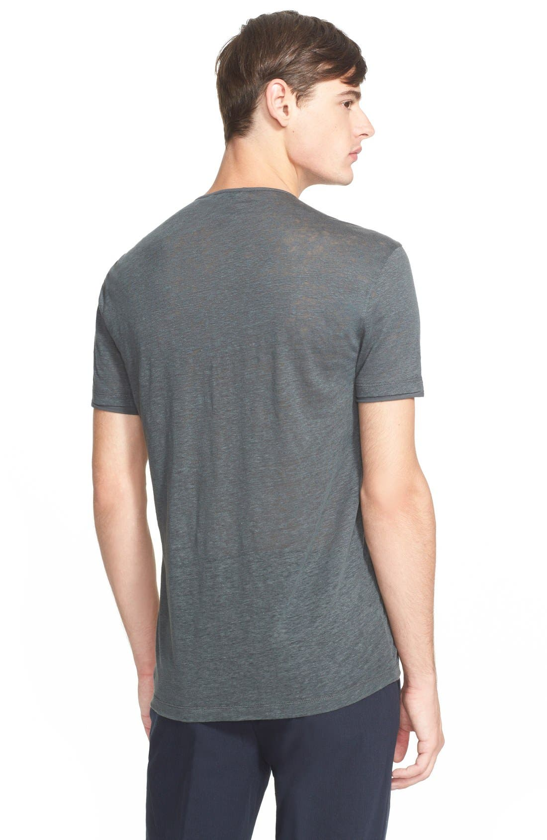 Collection Linen Henley Shirt,                             Alternate thumbnail 2, color,                             053