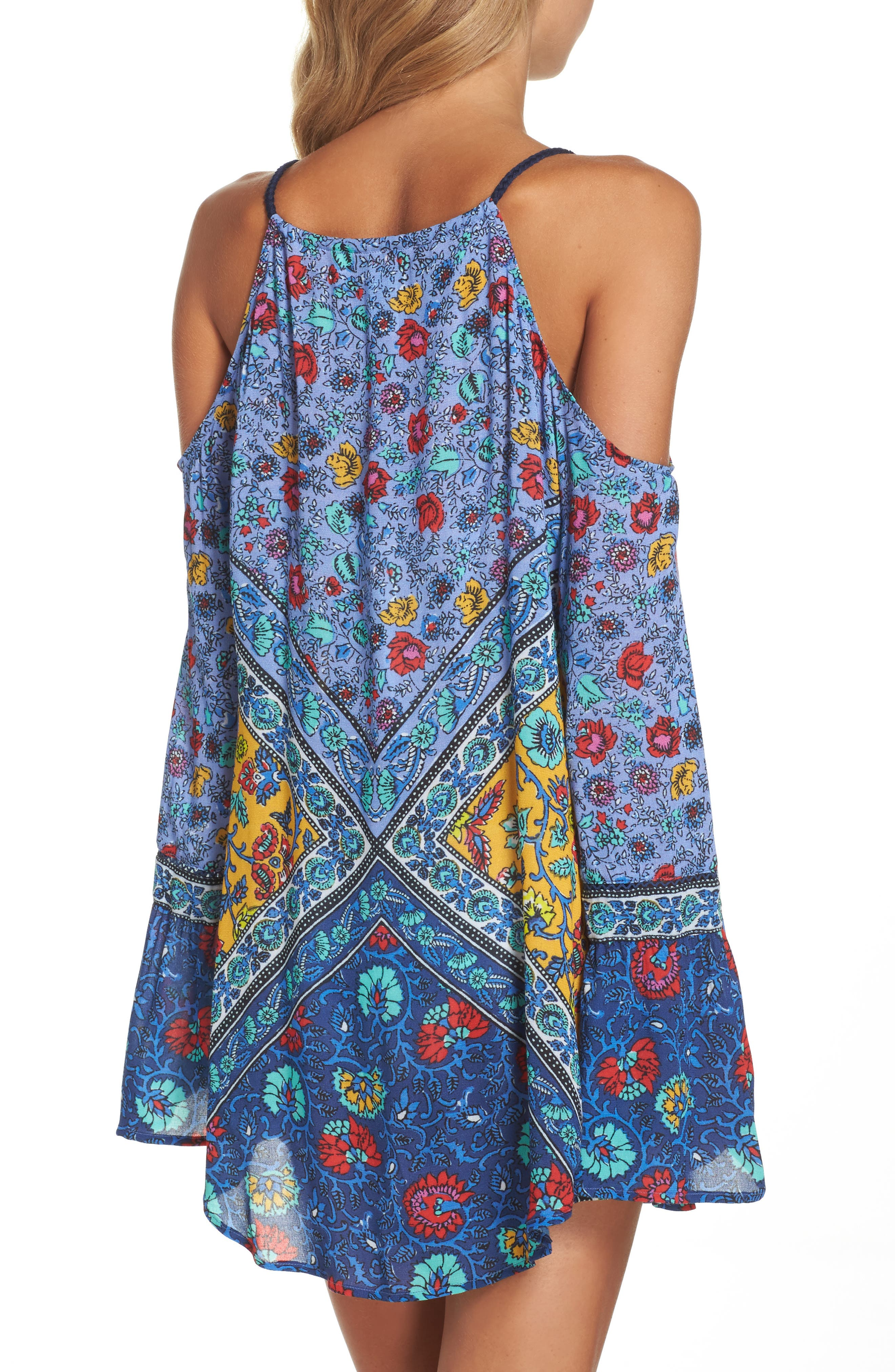 Woodstock Cold Shoulder Cover-Up Tunic,                             Alternate thumbnail 2, color,                             400