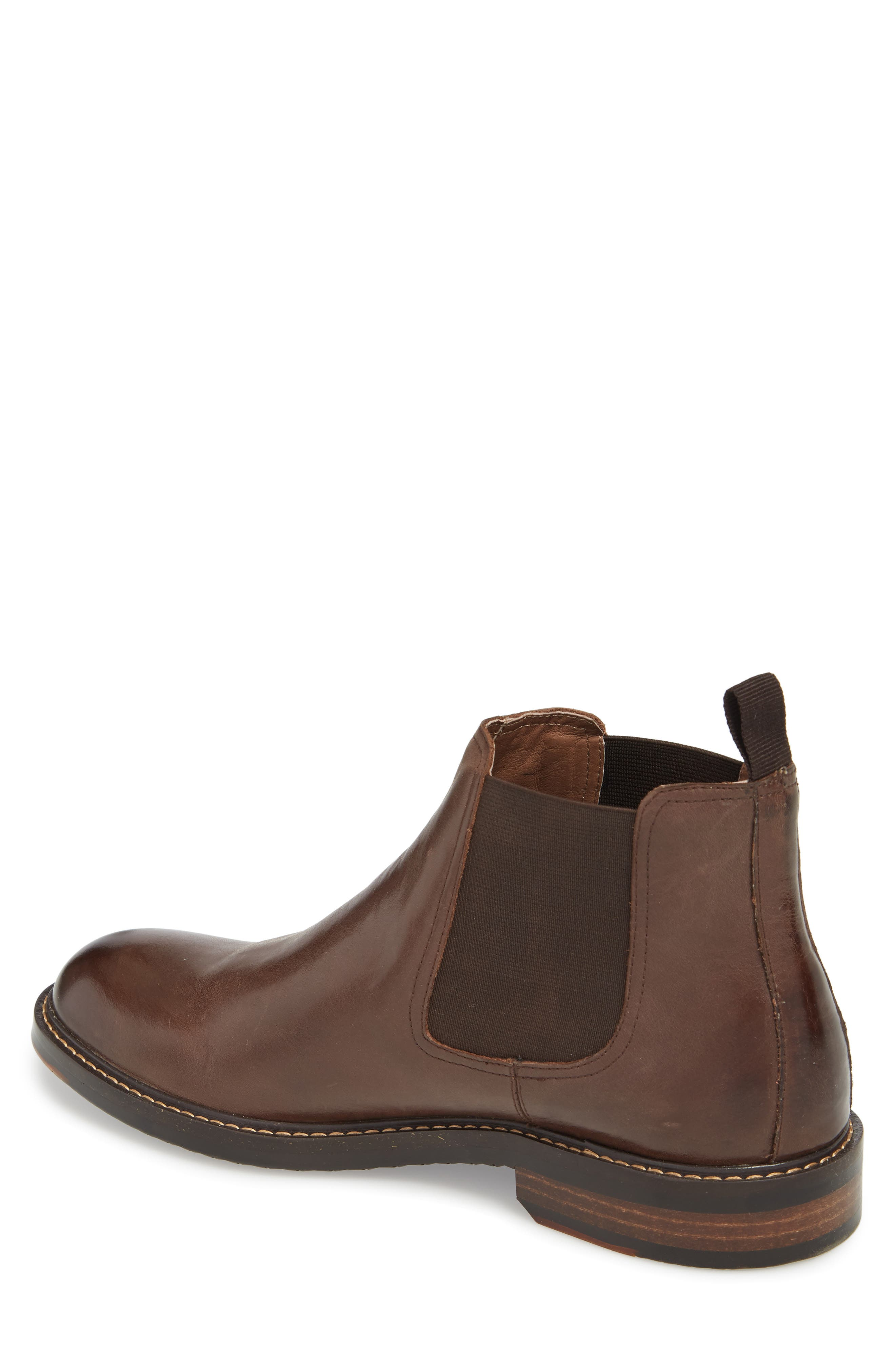 Brooks Chelsea Boot,                             Alternate thumbnail 2, color,                             BROWN LEATHER