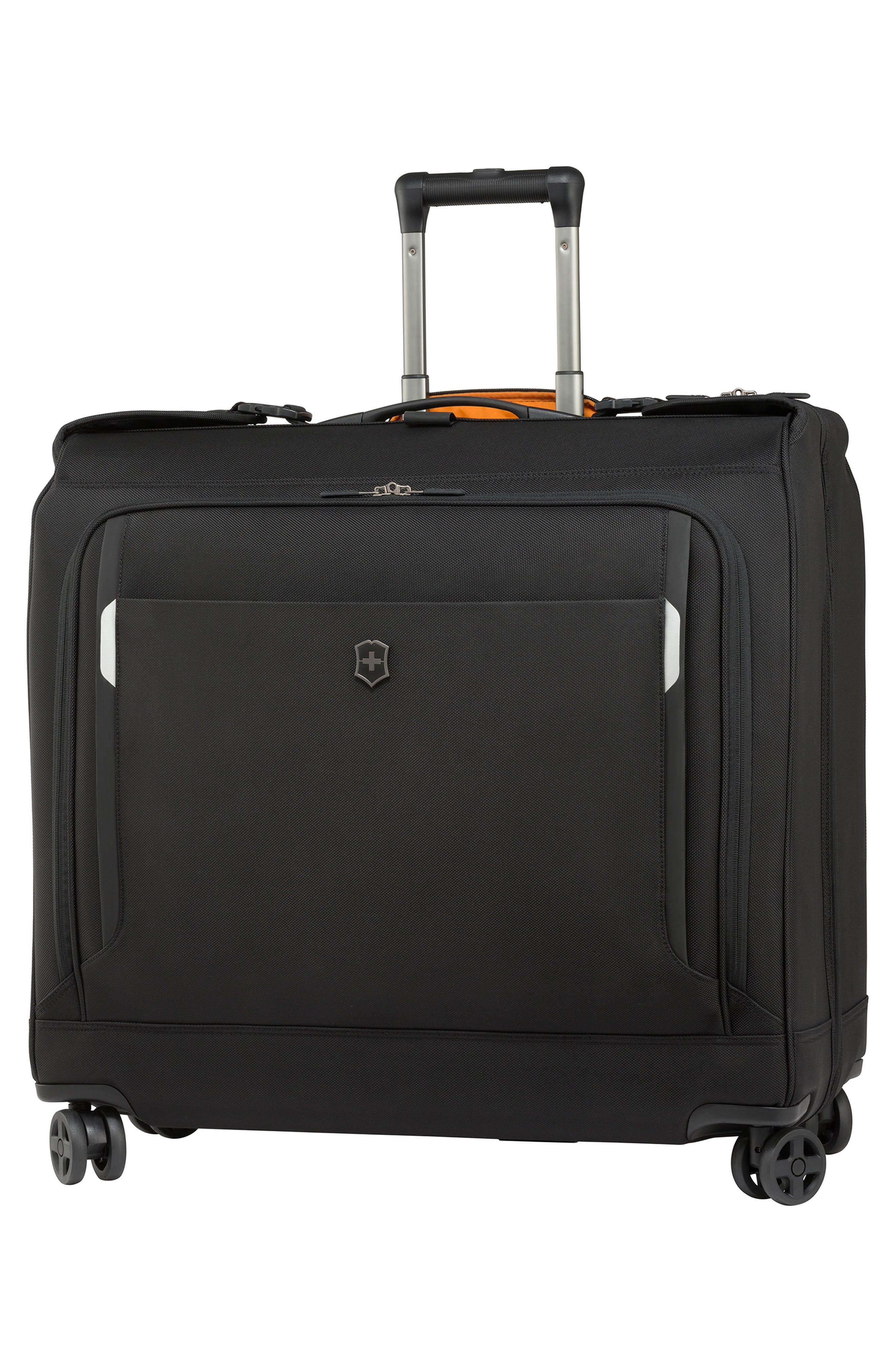 WT 5.0 Dual Caster Wheeled Garment Bag,                             Main thumbnail 1, color,                             001