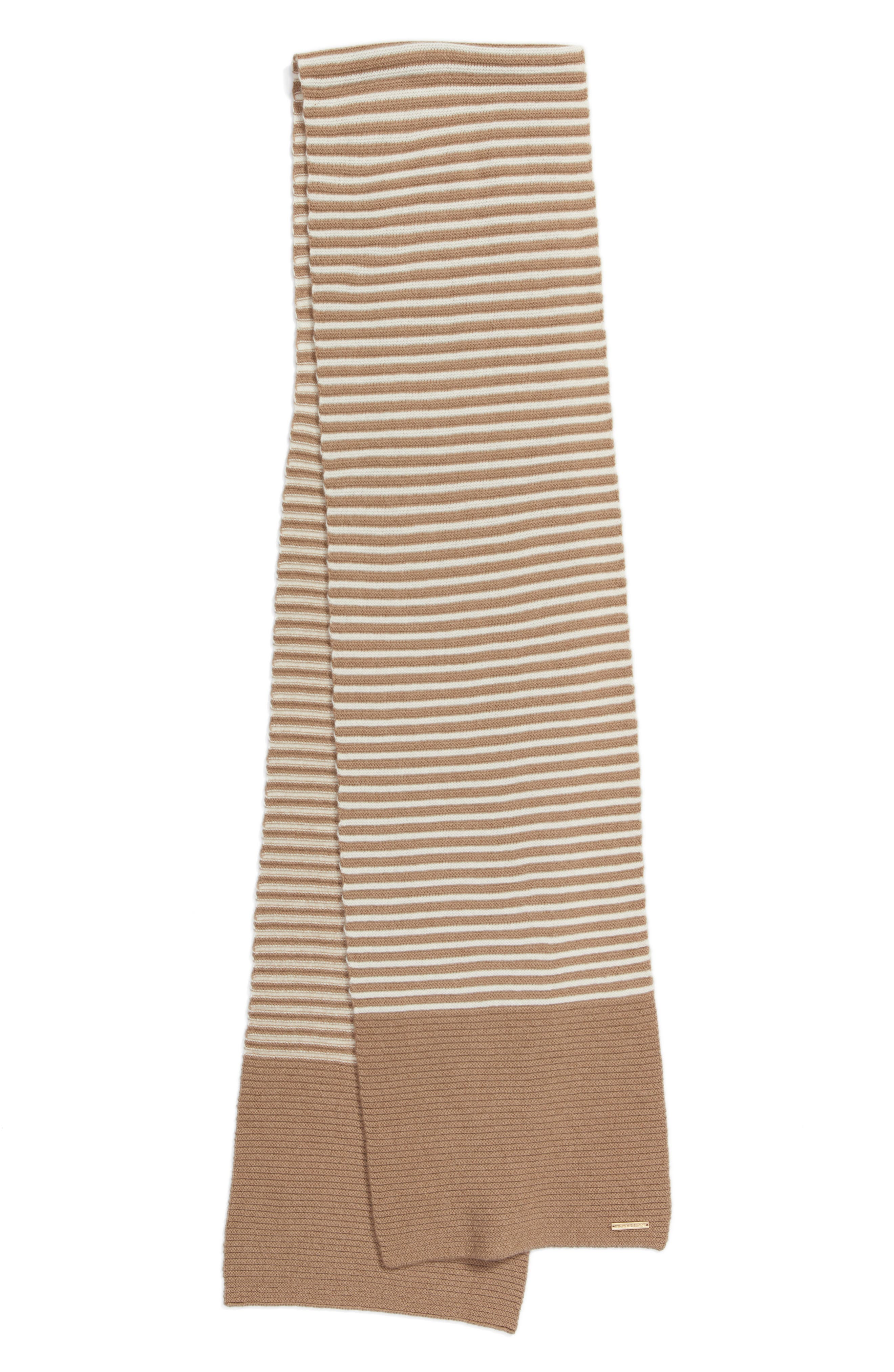 Double Links Wool & Cashmere Scarf,                             Alternate thumbnail 9, color,