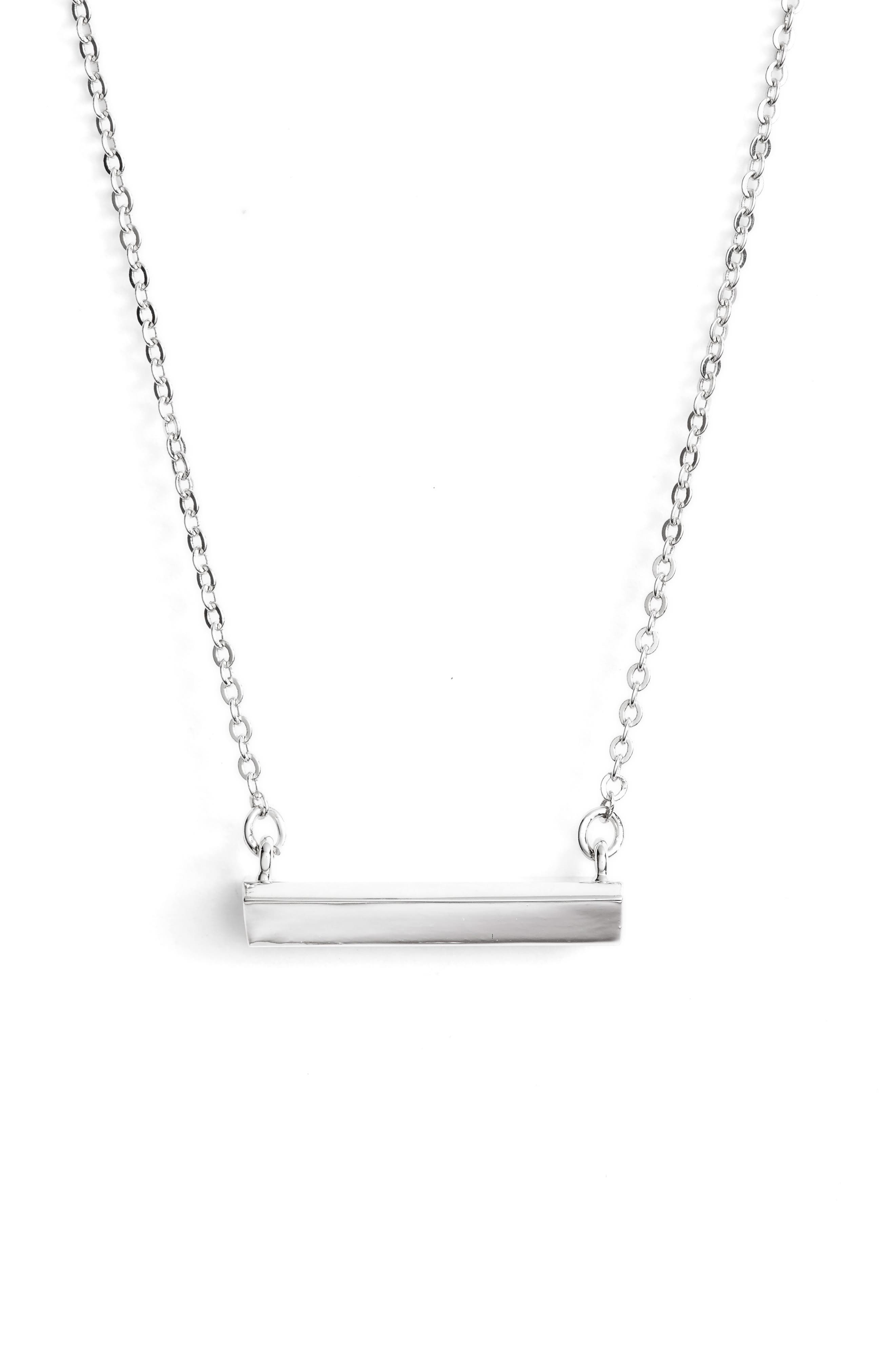 STELLA VALLE Diamond Shaped Bar Pendant Necklace, Main, color, 040