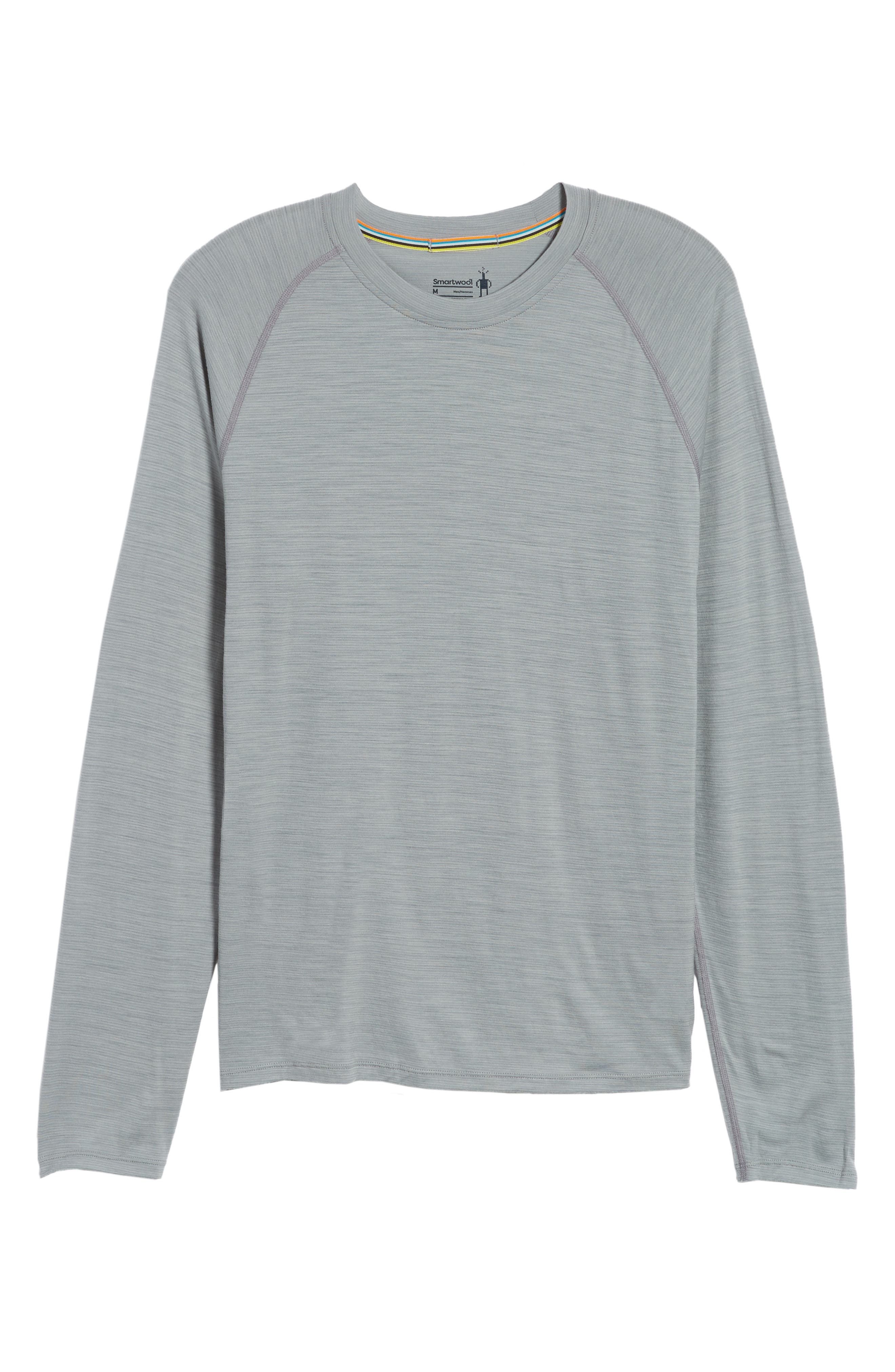 SMARTWOOL,                             Merino 150 Wool Blend Long Sleeve T-Shirt,                             Alternate thumbnail 6, color,                             LIGHT GREY