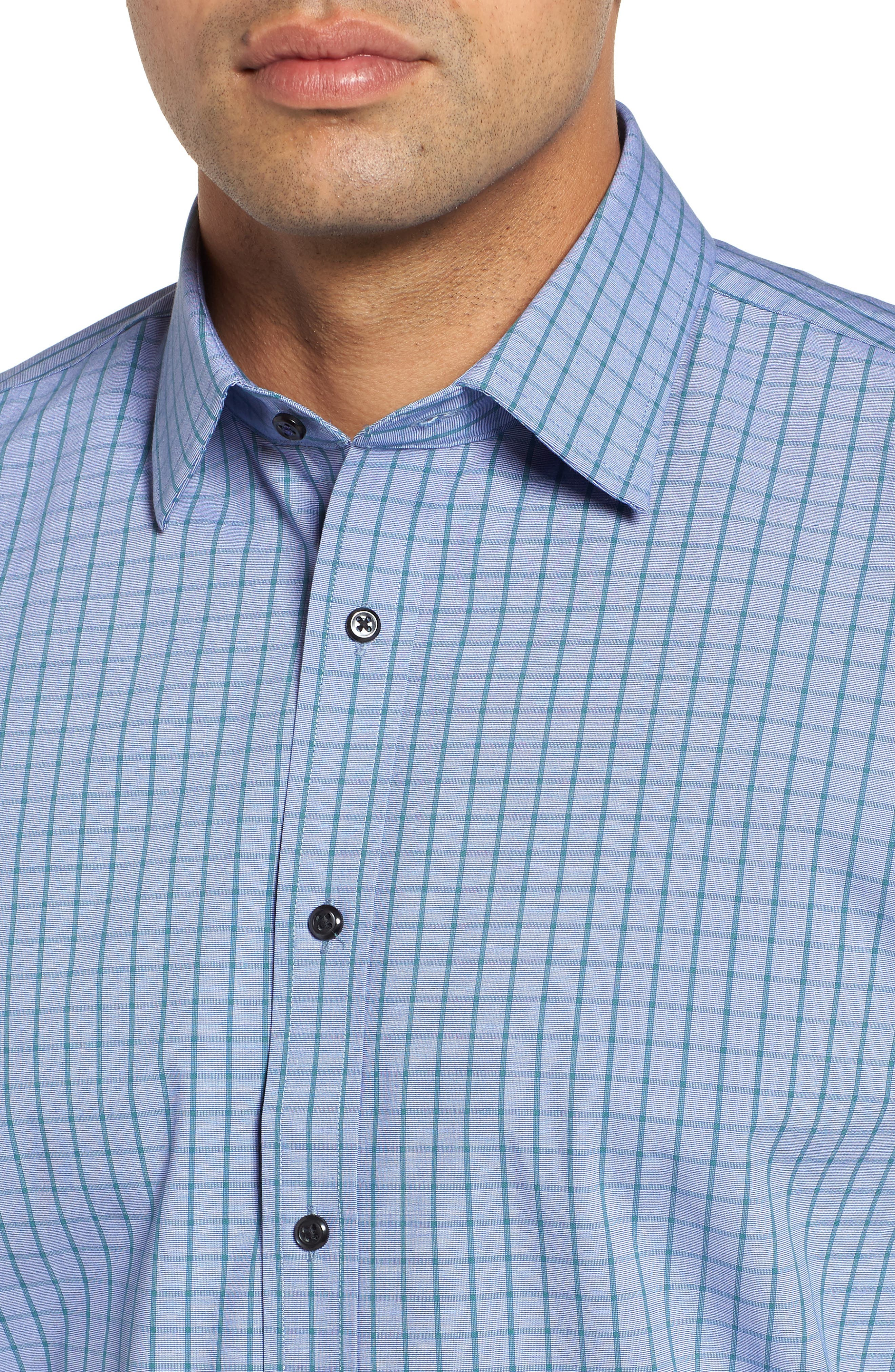 Tech-Smart Traditional Fit Stretch Check Dress Shirt,                             Alternate thumbnail 2, color,                             440