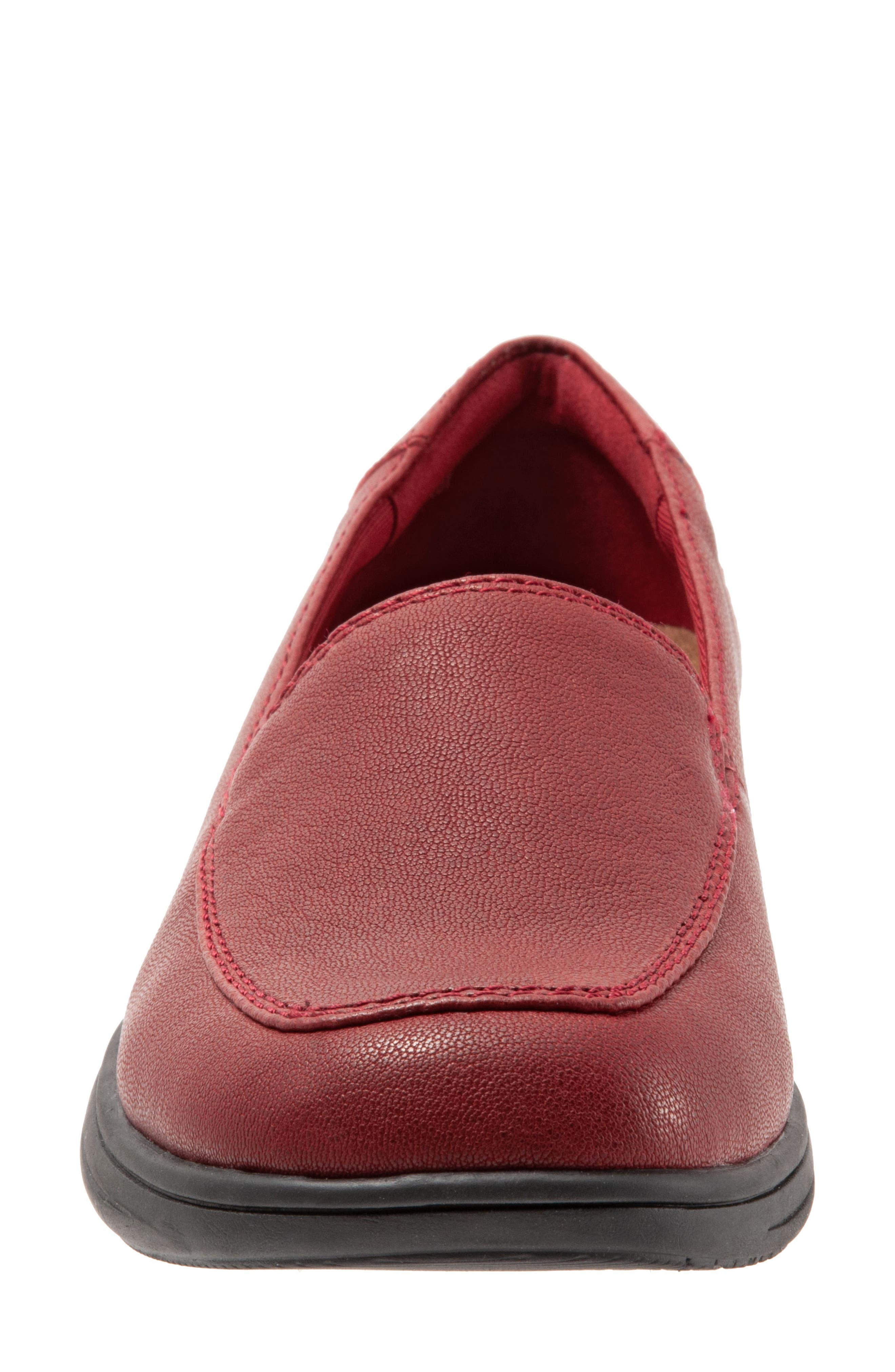 Jacob Loafer,                             Alternate thumbnail 4, color,                             DARK RED LEATHER