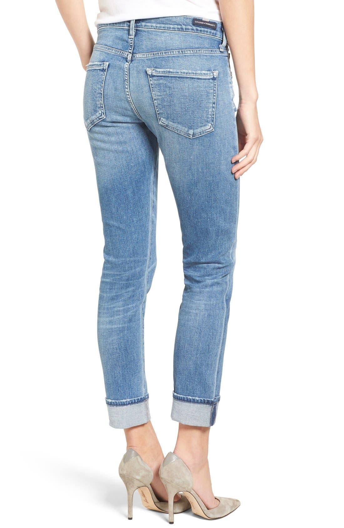 Jazmin Crop Straight Leg Jeans,                             Alternate thumbnail 3, color,                             424
