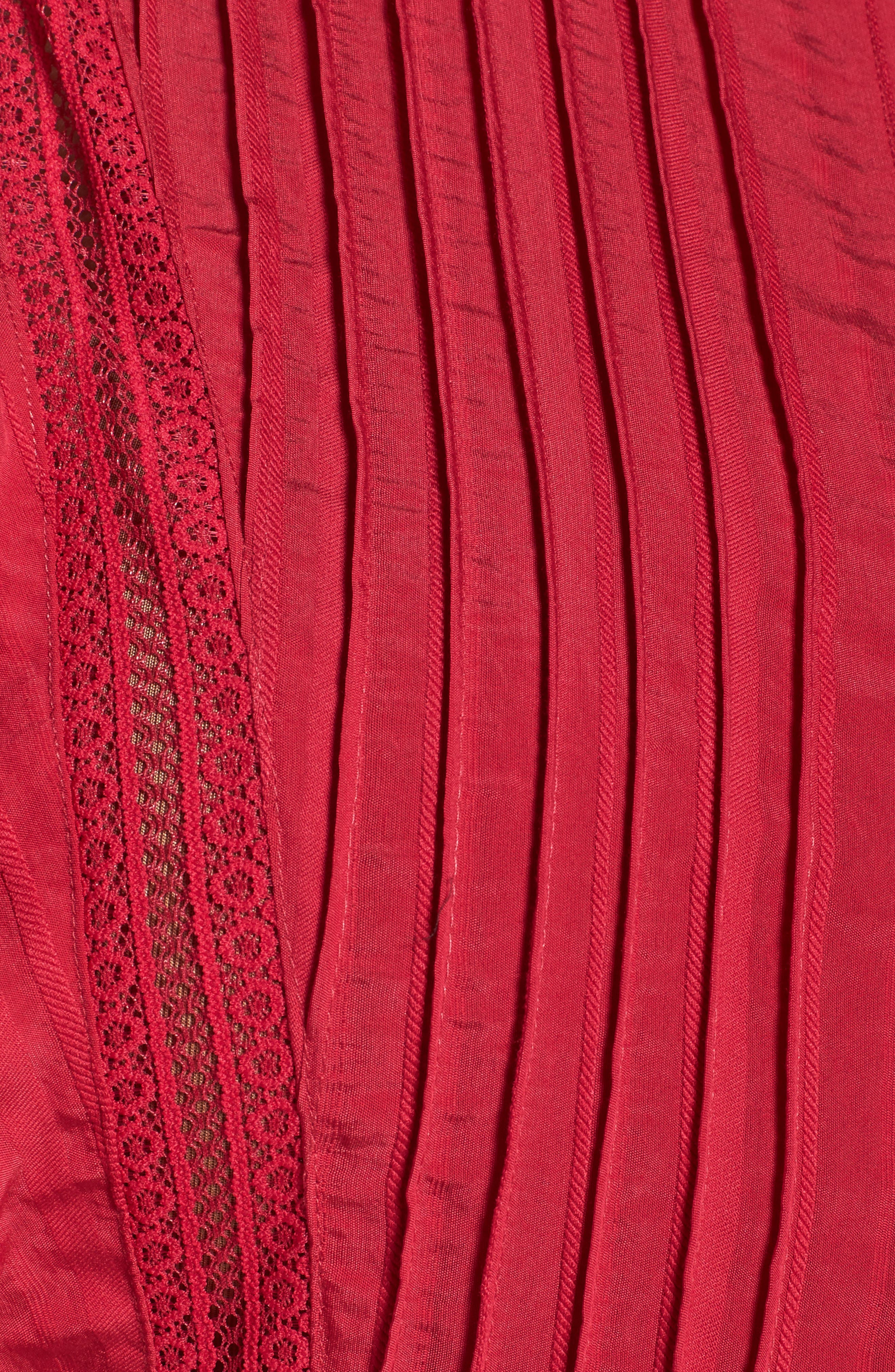 Lace Trim Pintuck Pleated Top,                             Alternate thumbnail 14, color,