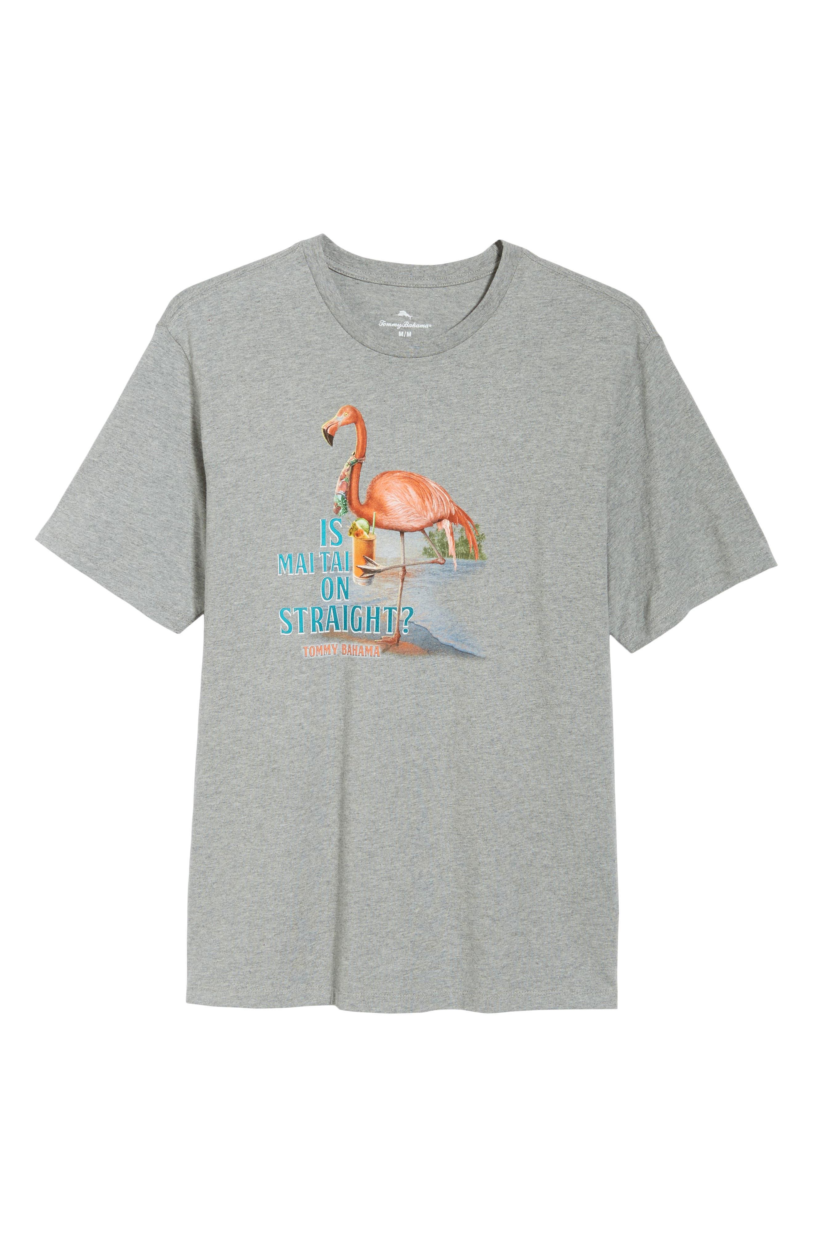 Is Mai Tai on Straight? T-Shirt,                             Alternate thumbnail 6, color,                             GREY HEATHER