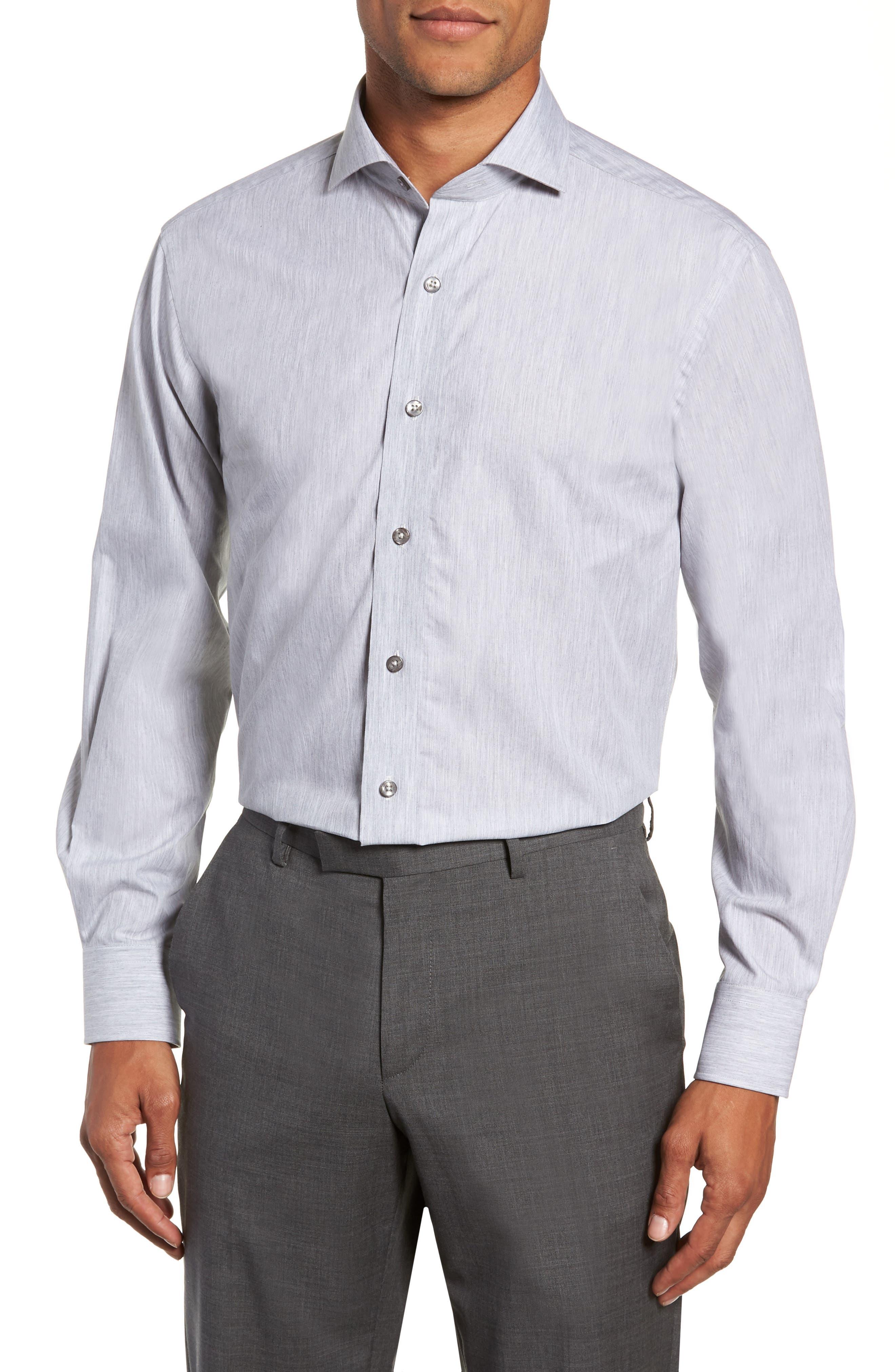 Trim Fit Solid Dress Shirt,                         Main,                         color, 050