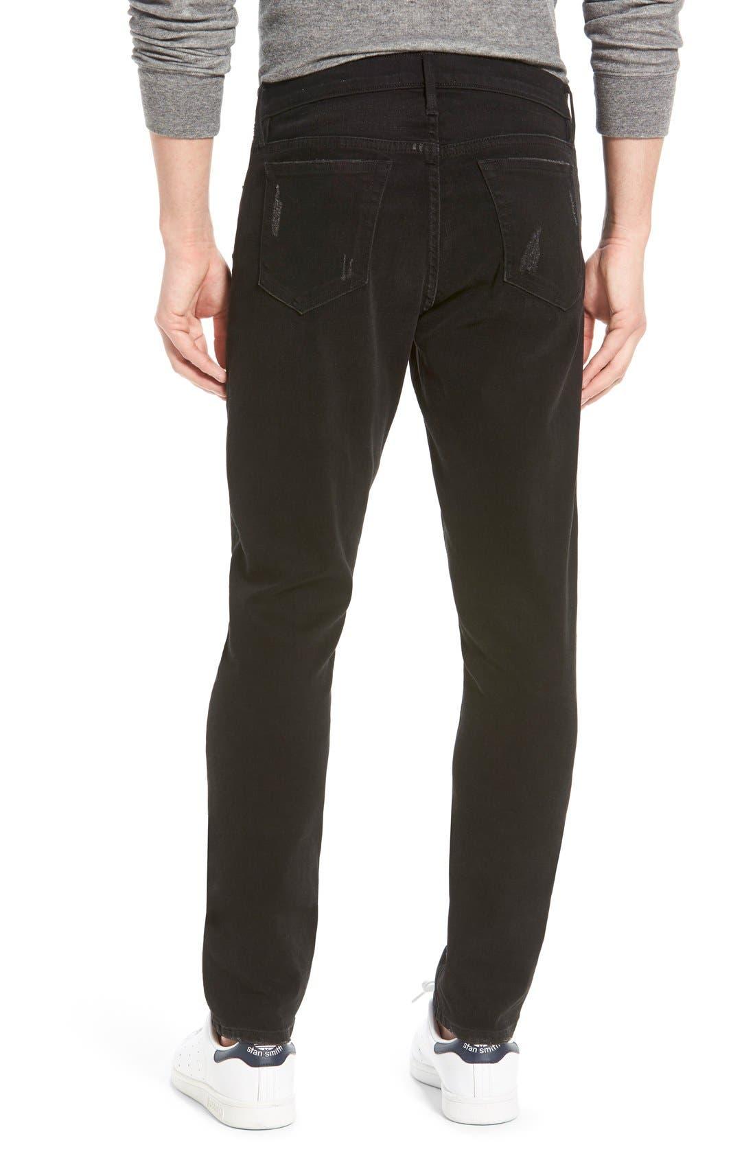 'L'Homme' Slim Fit Jeans,                             Alternate thumbnail 5, color,                             001