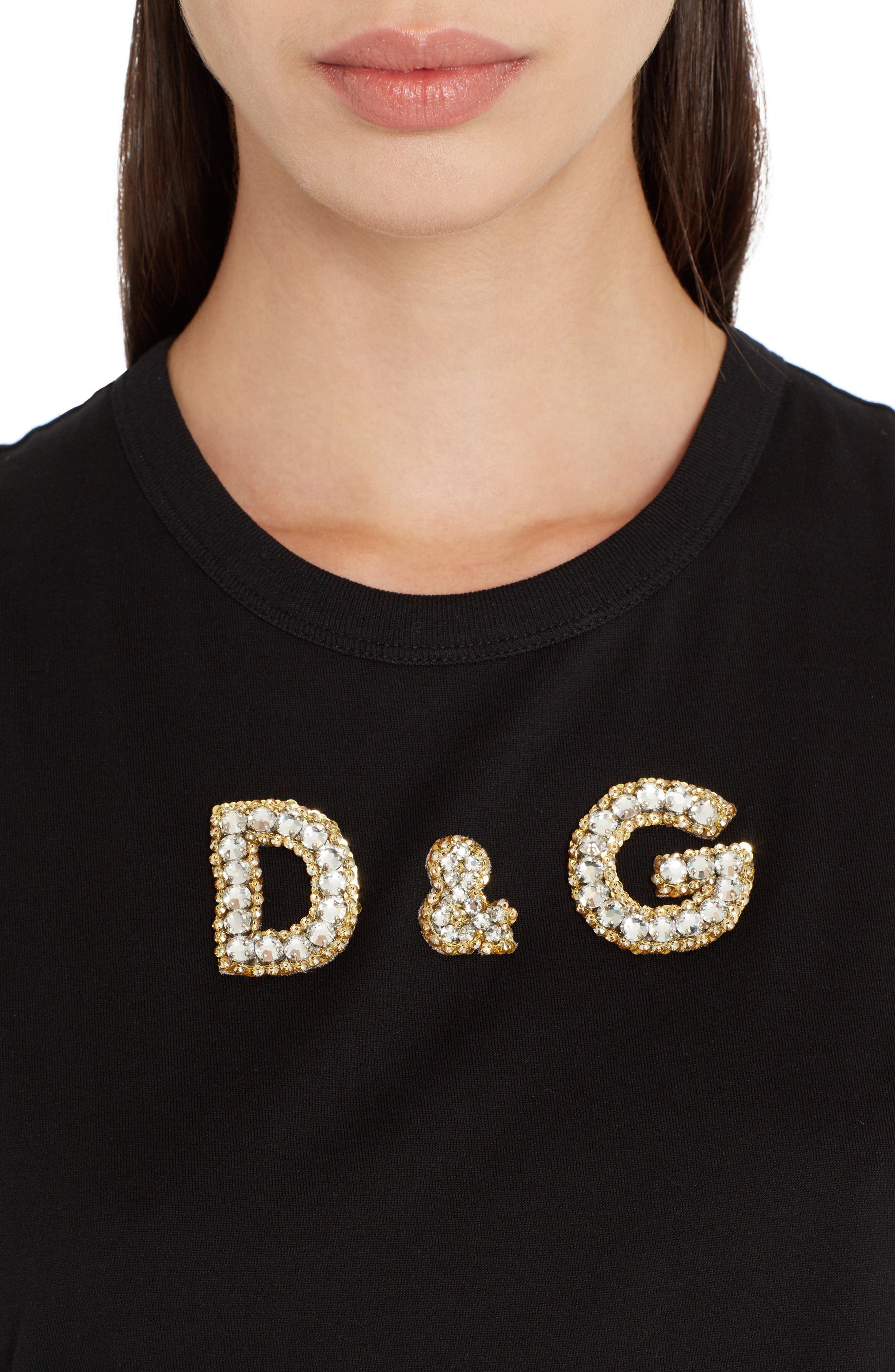 Sequin Logo Muscle Tee,                             Alternate thumbnail 4, color,                             001