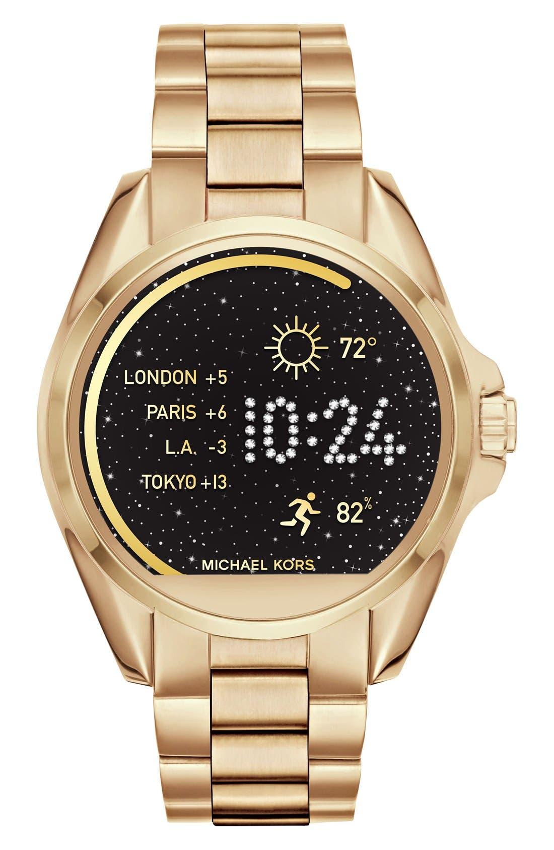 MICHAEL Michael Kors Bradshaw Access Bracelet Smart Watch, 45mm,                         Main,                         color, GOLD