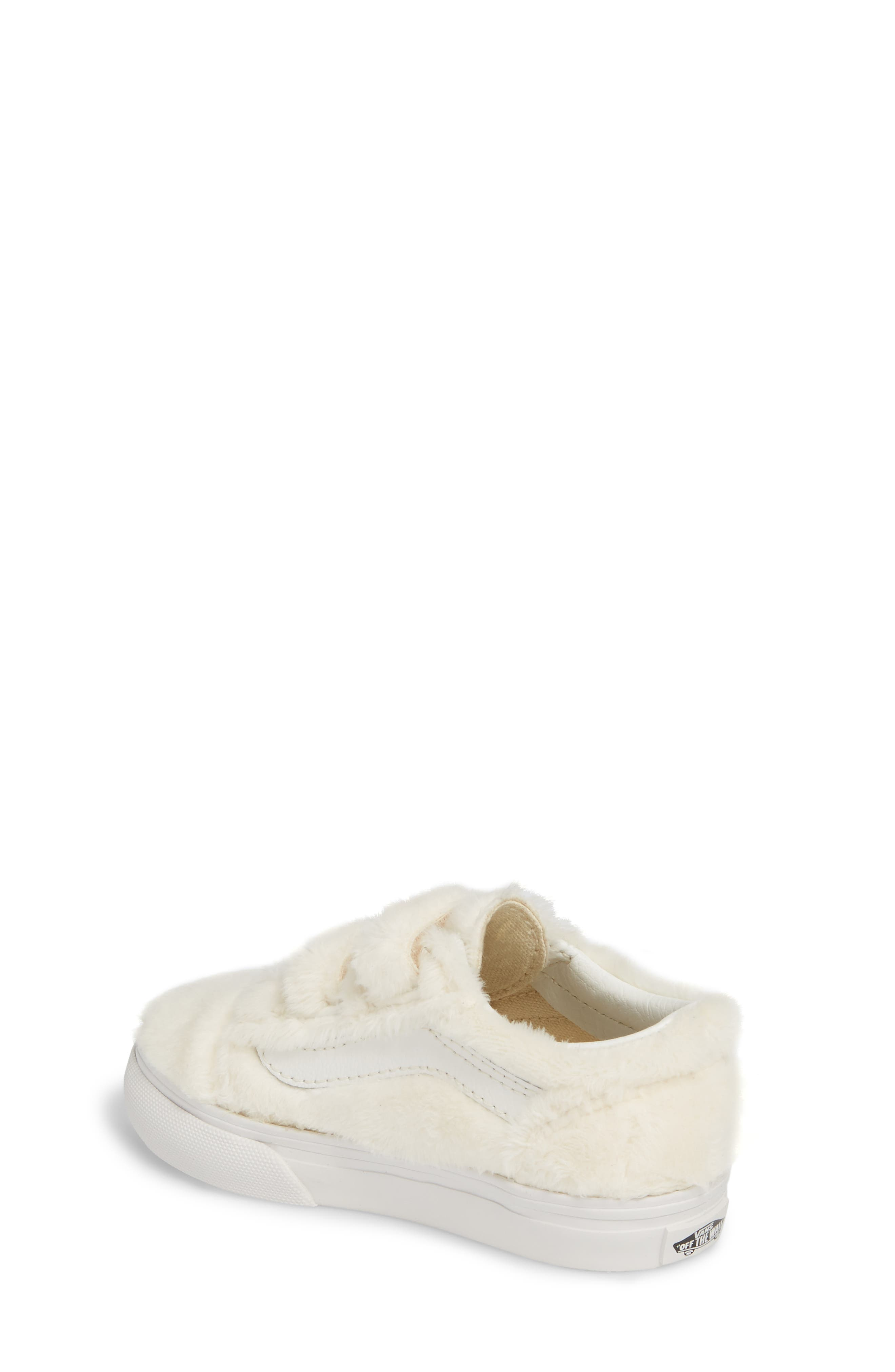 Old Skool V Faux Fur Sneaker,                             Alternate thumbnail 2, color,                             900