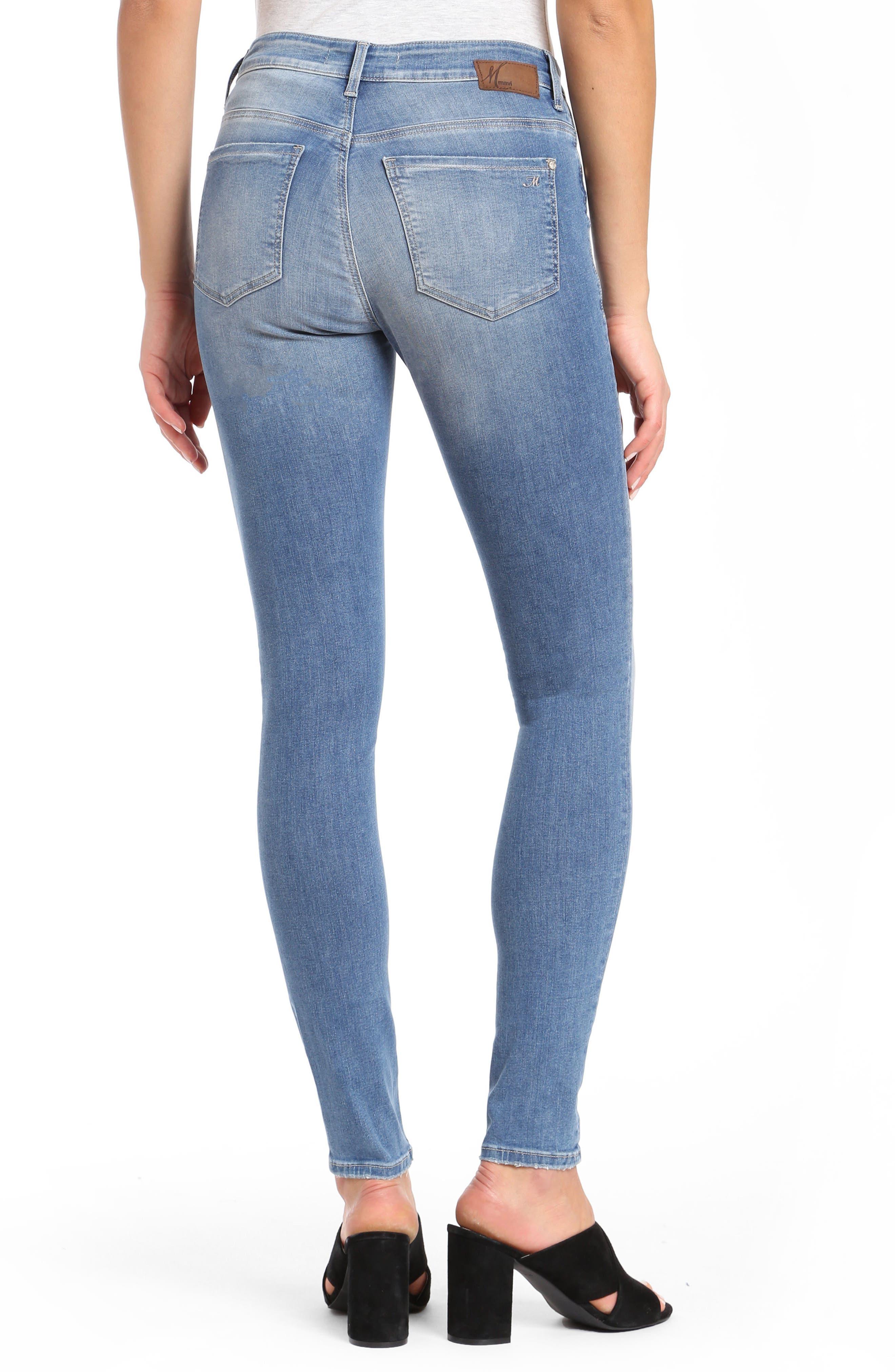 Mavi Alissa Super Skinny Jeans,                             Alternate thumbnail 2, color,                             INDIGO SHADED NOLITA