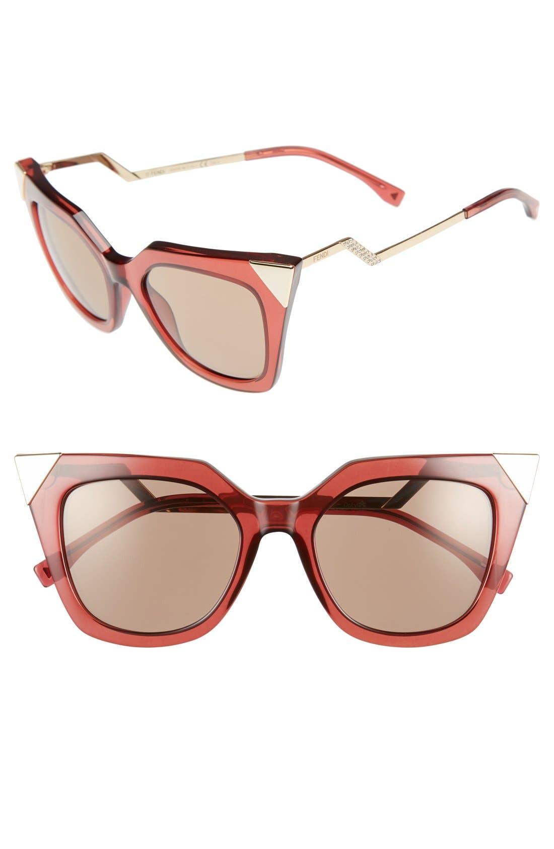 52mm Cat Eye Sunglasses,                             Main thumbnail 7, color,