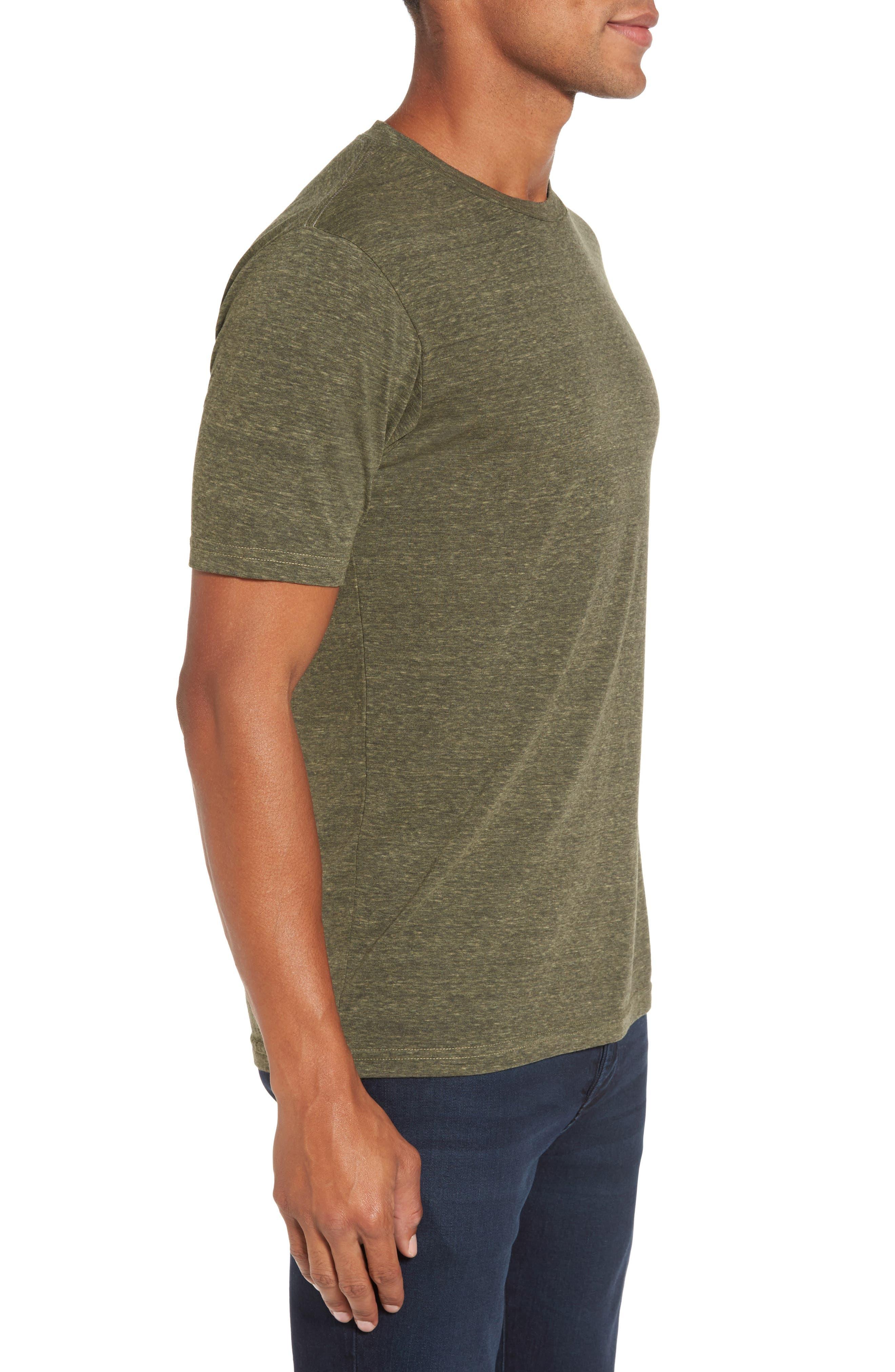 Crewneck Heathered T-Shirt,                             Alternate thumbnail 3, color,                             313