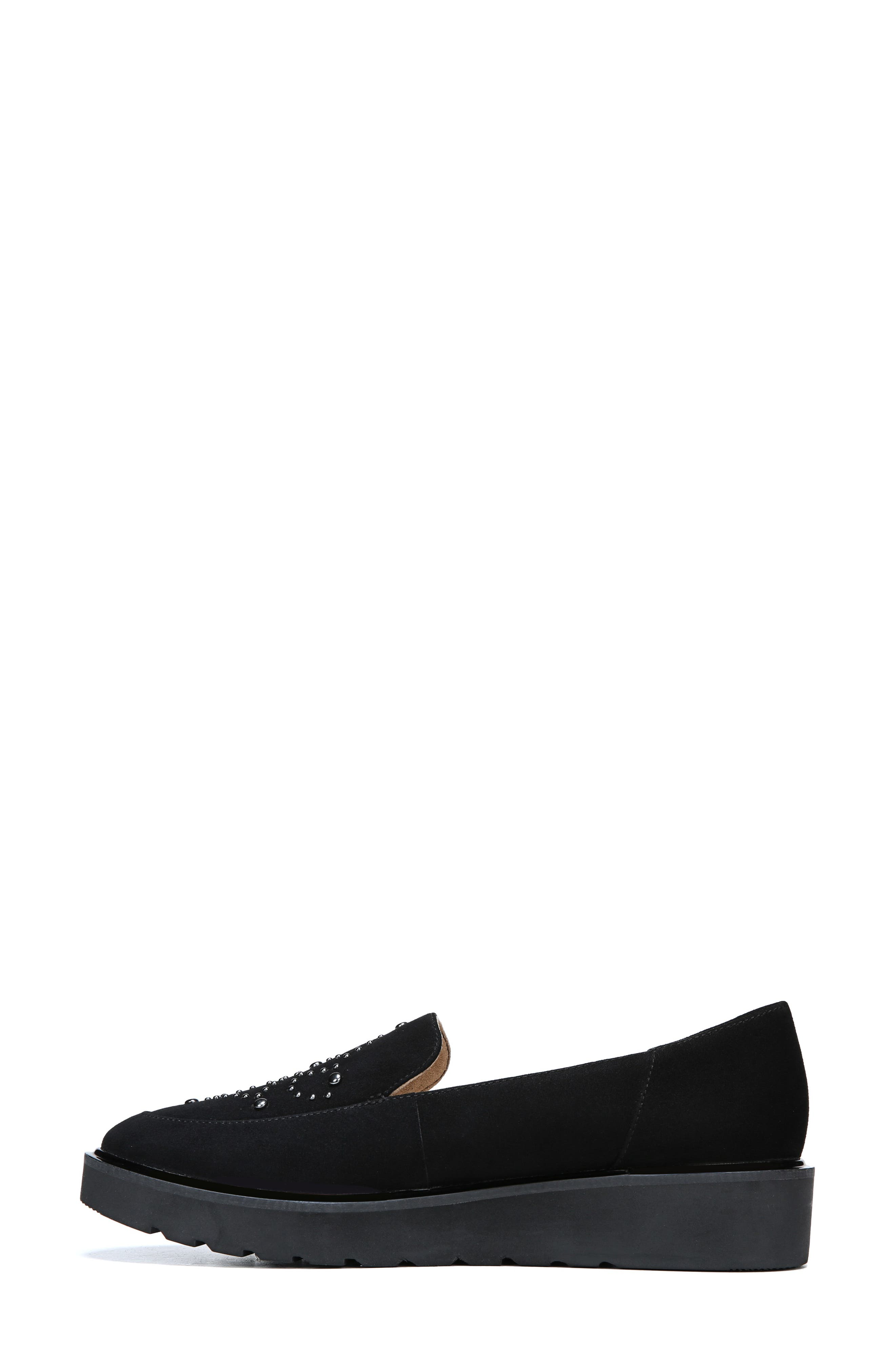 Andie Loafer,                             Alternate thumbnail 6, color,                             BLACK SUEDE