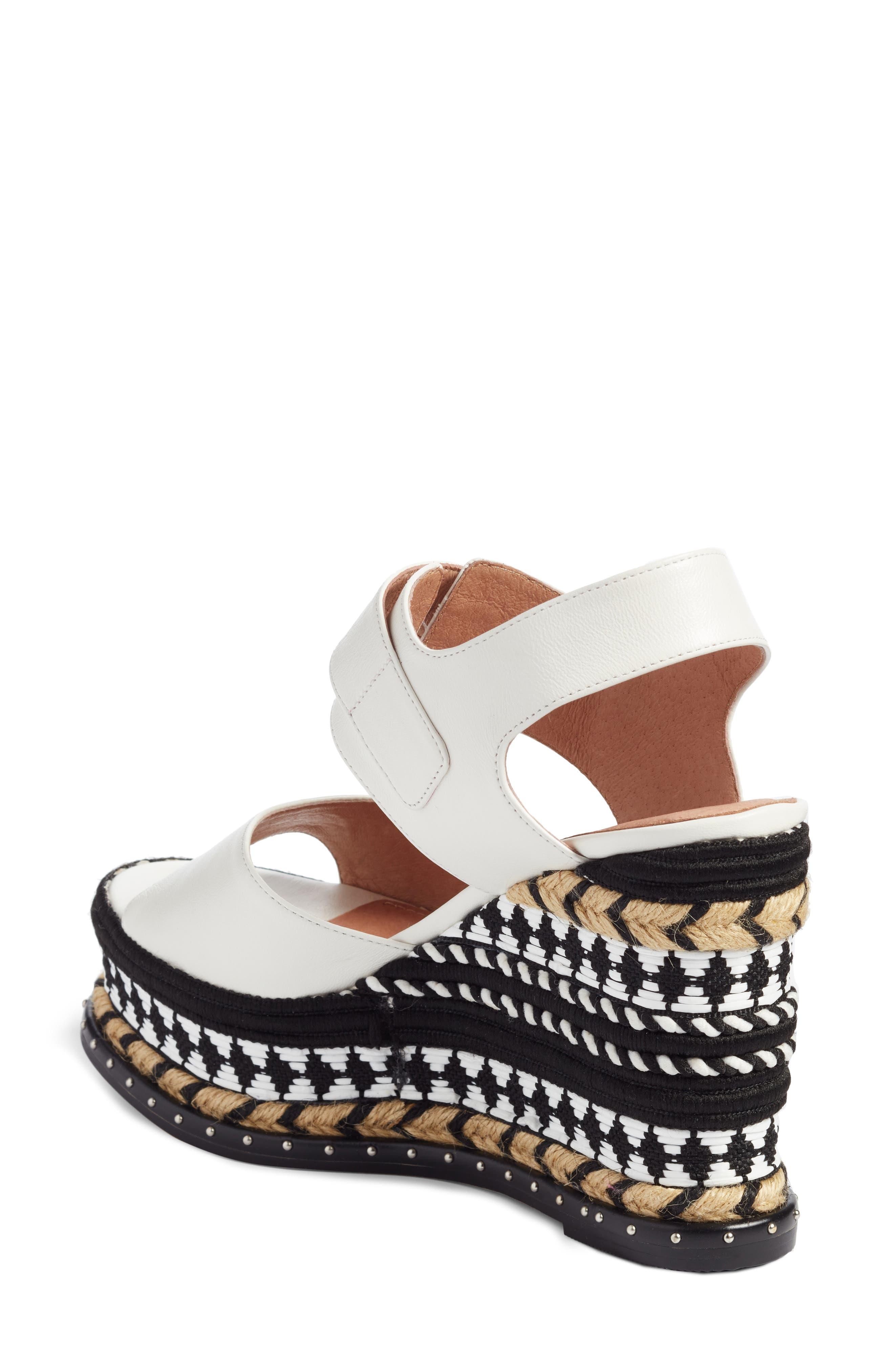 Braxton Platform Wedge Sandal,                             Alternate thumbnail 4, color,