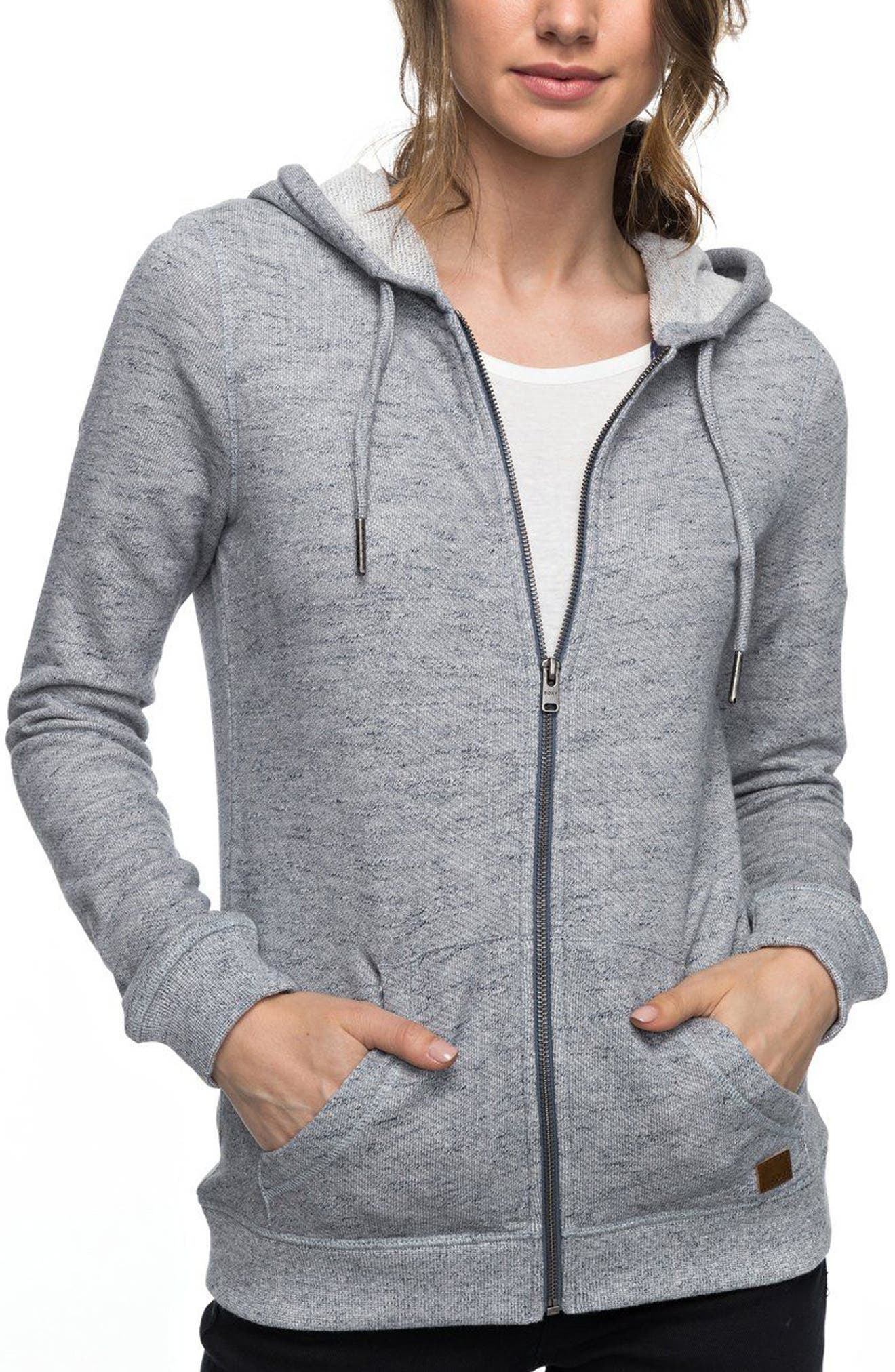 Trippin Hoodie,                         Main,                         color, HERITAGE HEATHER