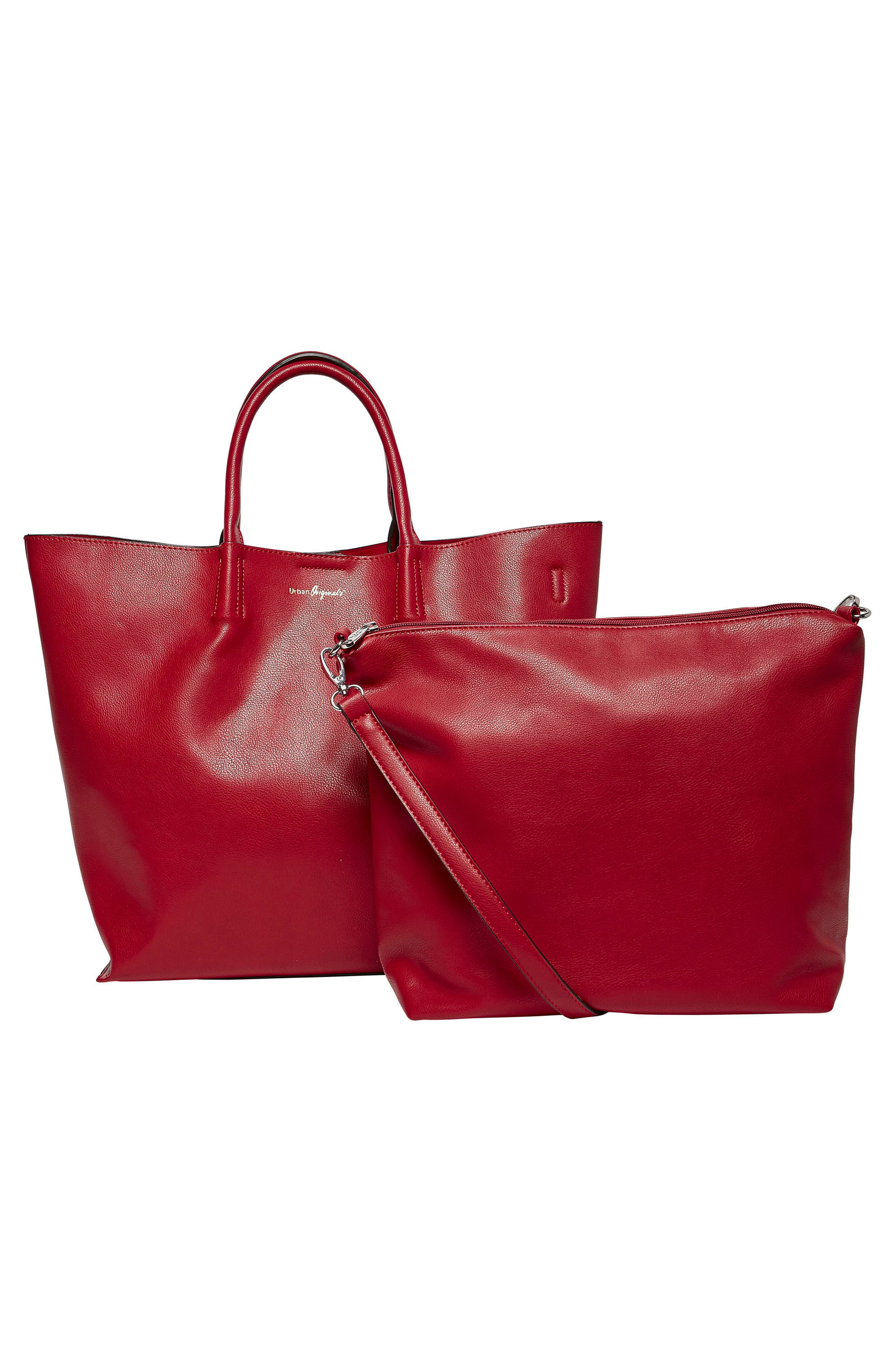 Butterfly Vegan Leather Tote,                             Alternate thumbnail 9, color,