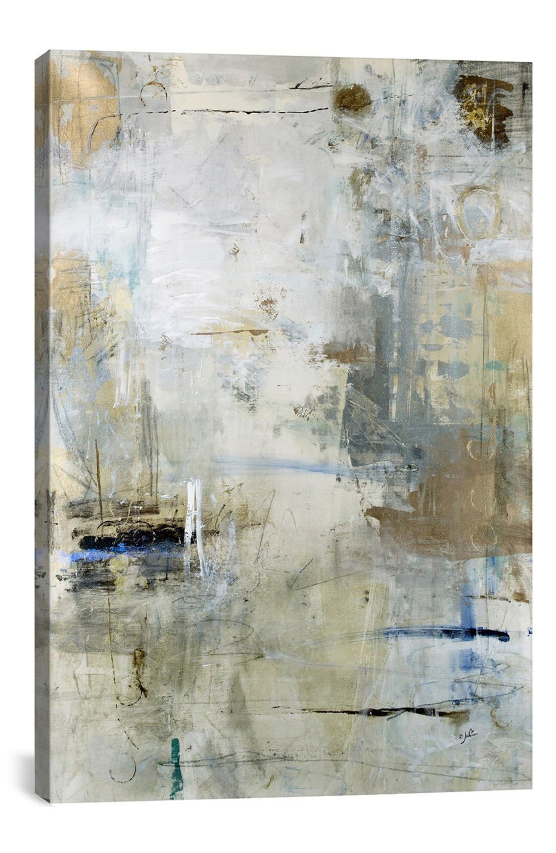 ICANVAS 'Asking For White' Giclée Print Canvas Art, Main, color, GREY